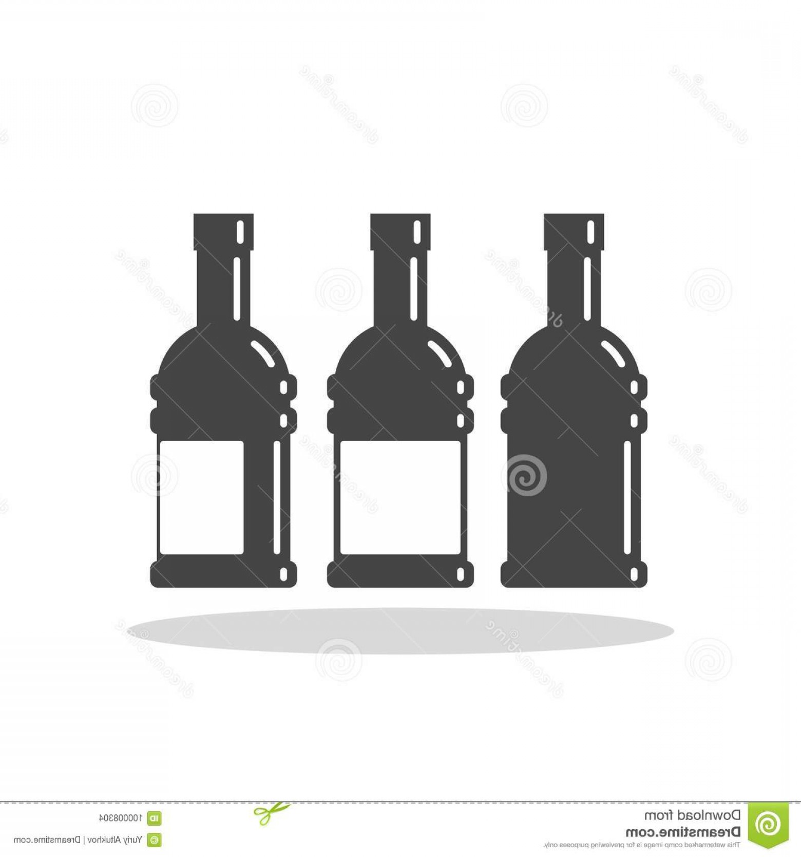 Alcohol Vector: Bottle Alcohol Vector Flat Icon Bottle Alcohol Vector Flat Icon Vector Sign Symbol Image