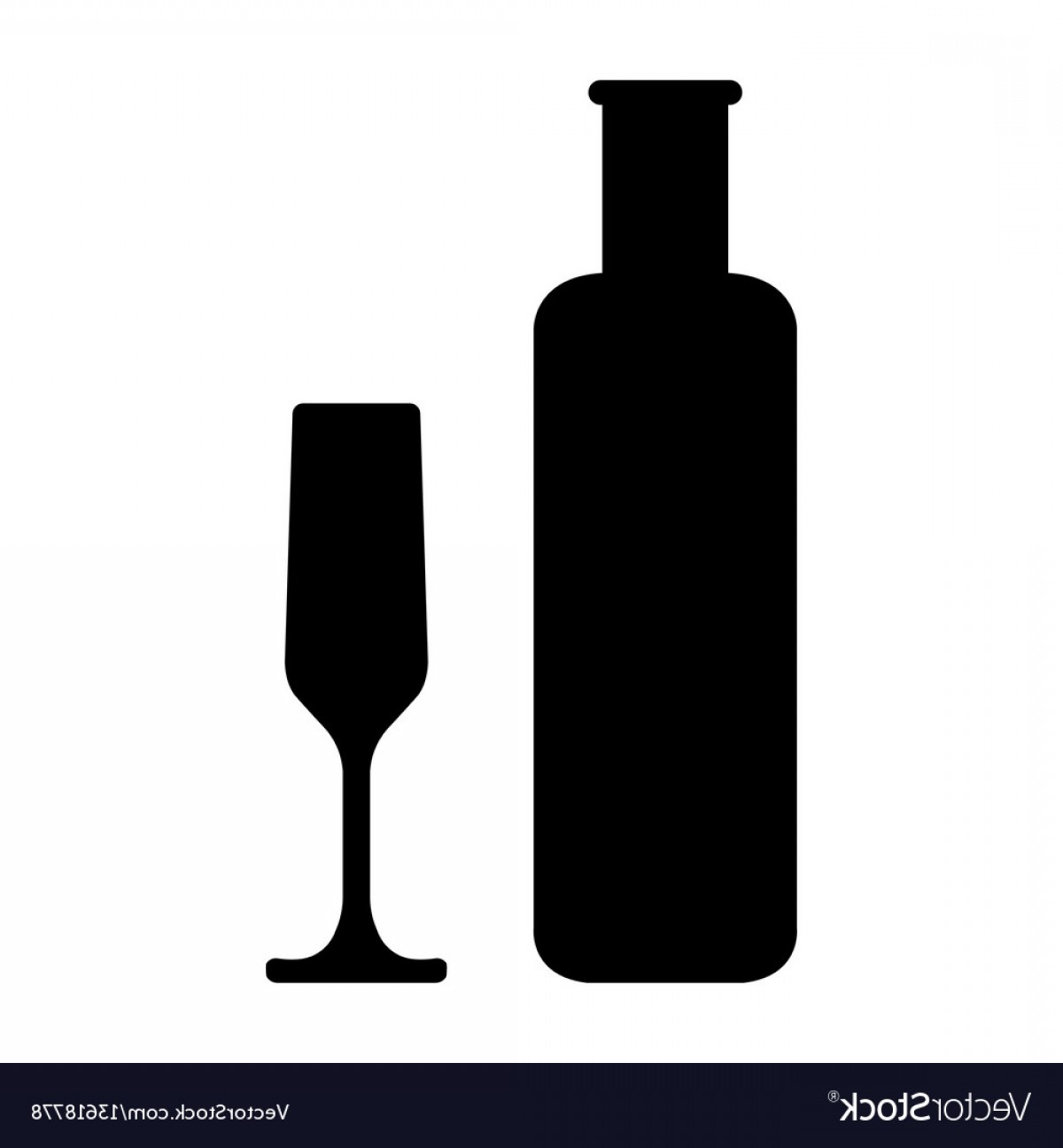 Alcohol Vector: Bottles And Glasse Of Alcohol Vector
