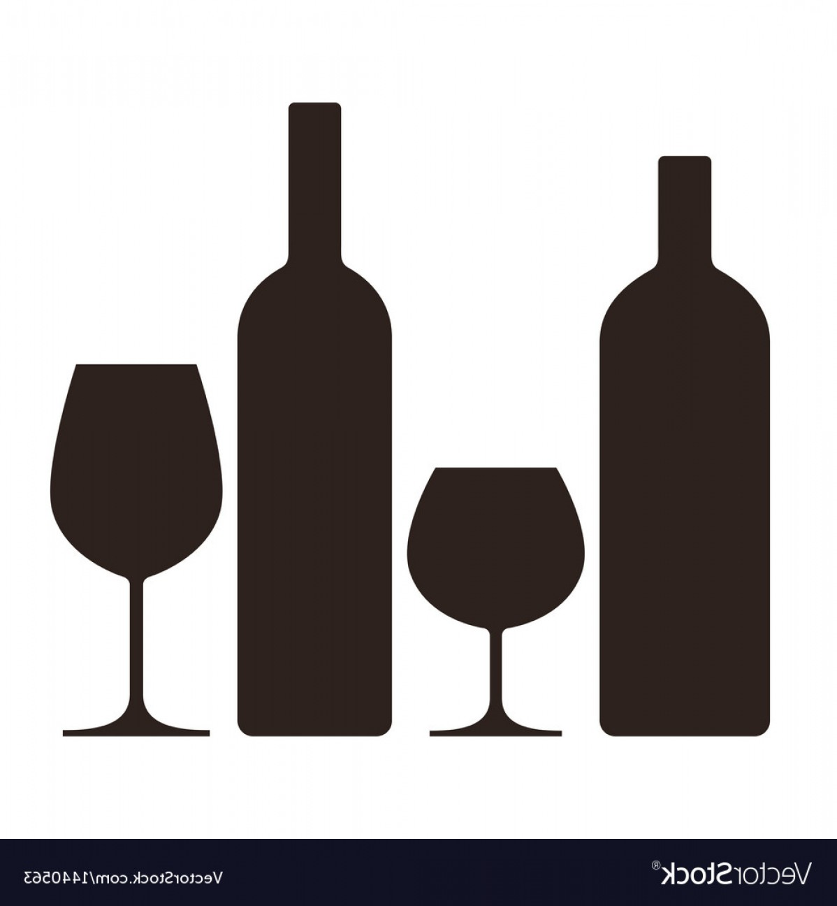 Alcohol Vector: Bottles And Glasses Of Alcohol Vector