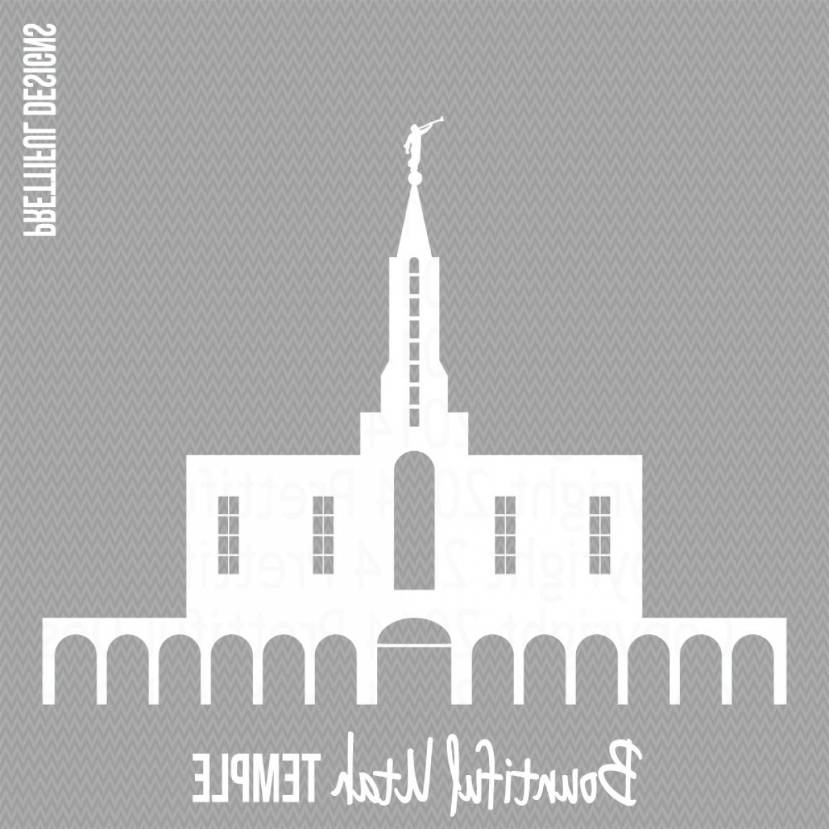 Salt Lake City Temple Vector: Bountiful Utah Temple Lds Mormon Clip