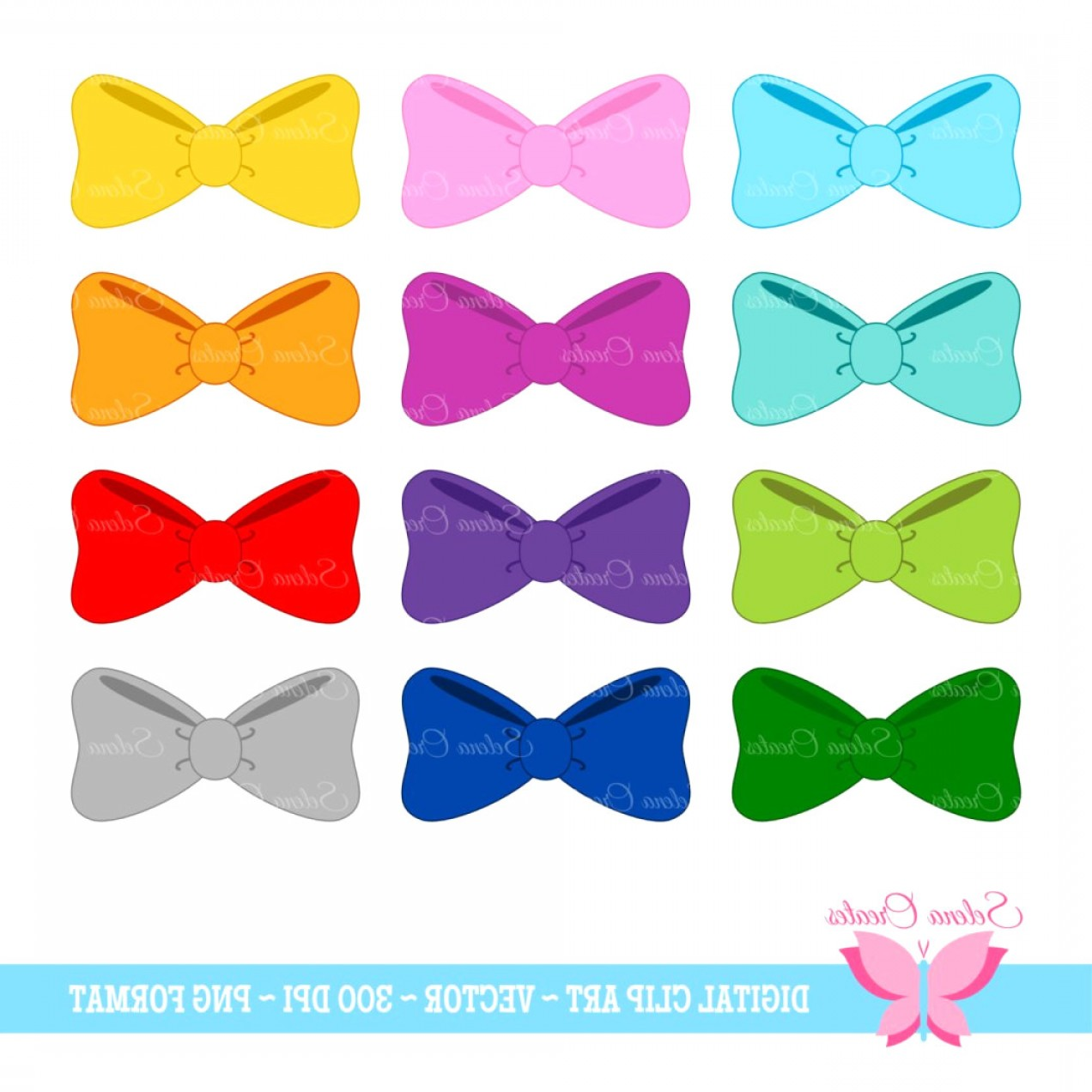 Hair Bow Clip Art Vector: Bow Clipart Image Of Hair Clip Art White Dotted Vector Free X