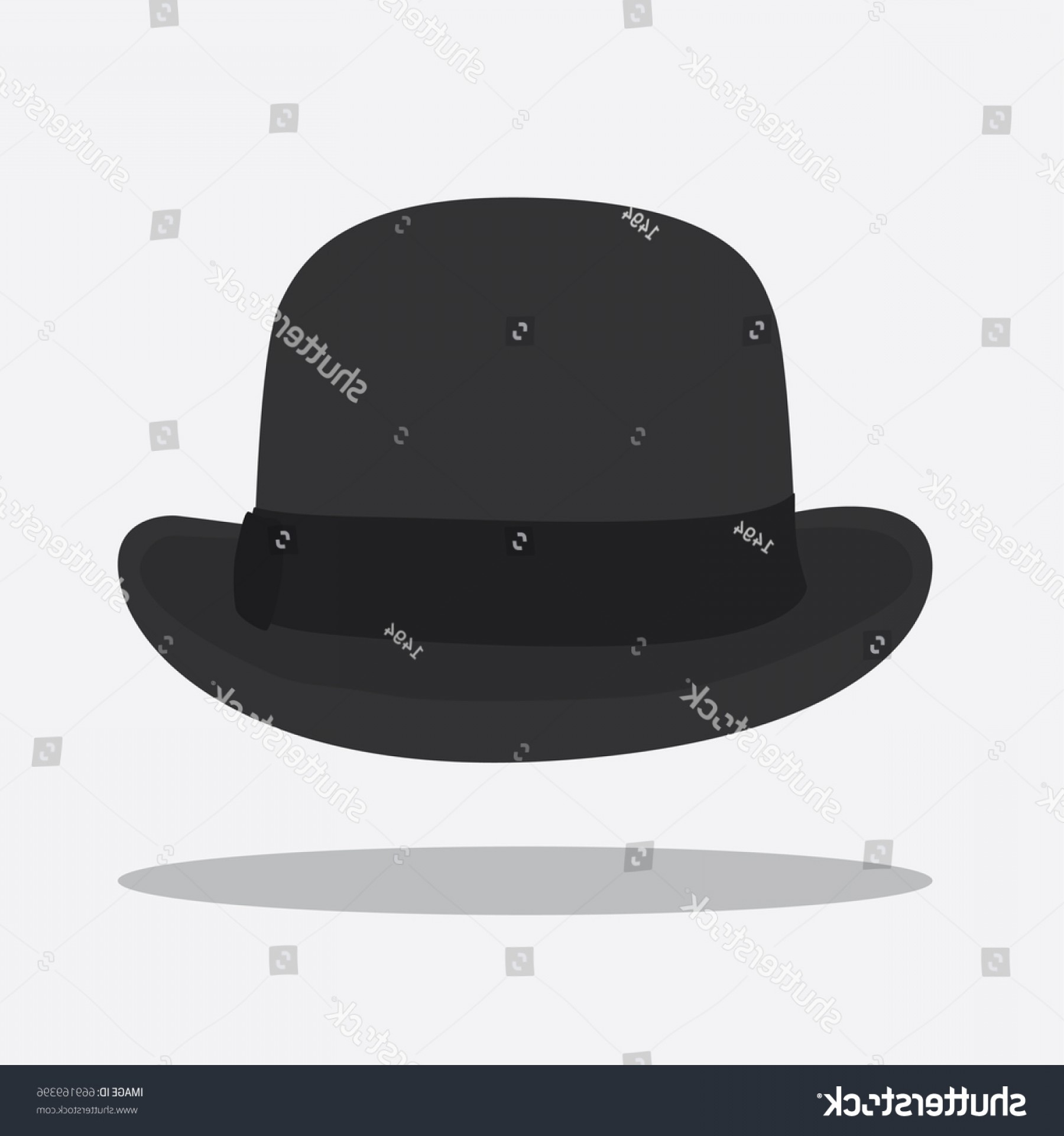 Bowler Hat Vector: Bowler Hat Icon Vector Illustration Design