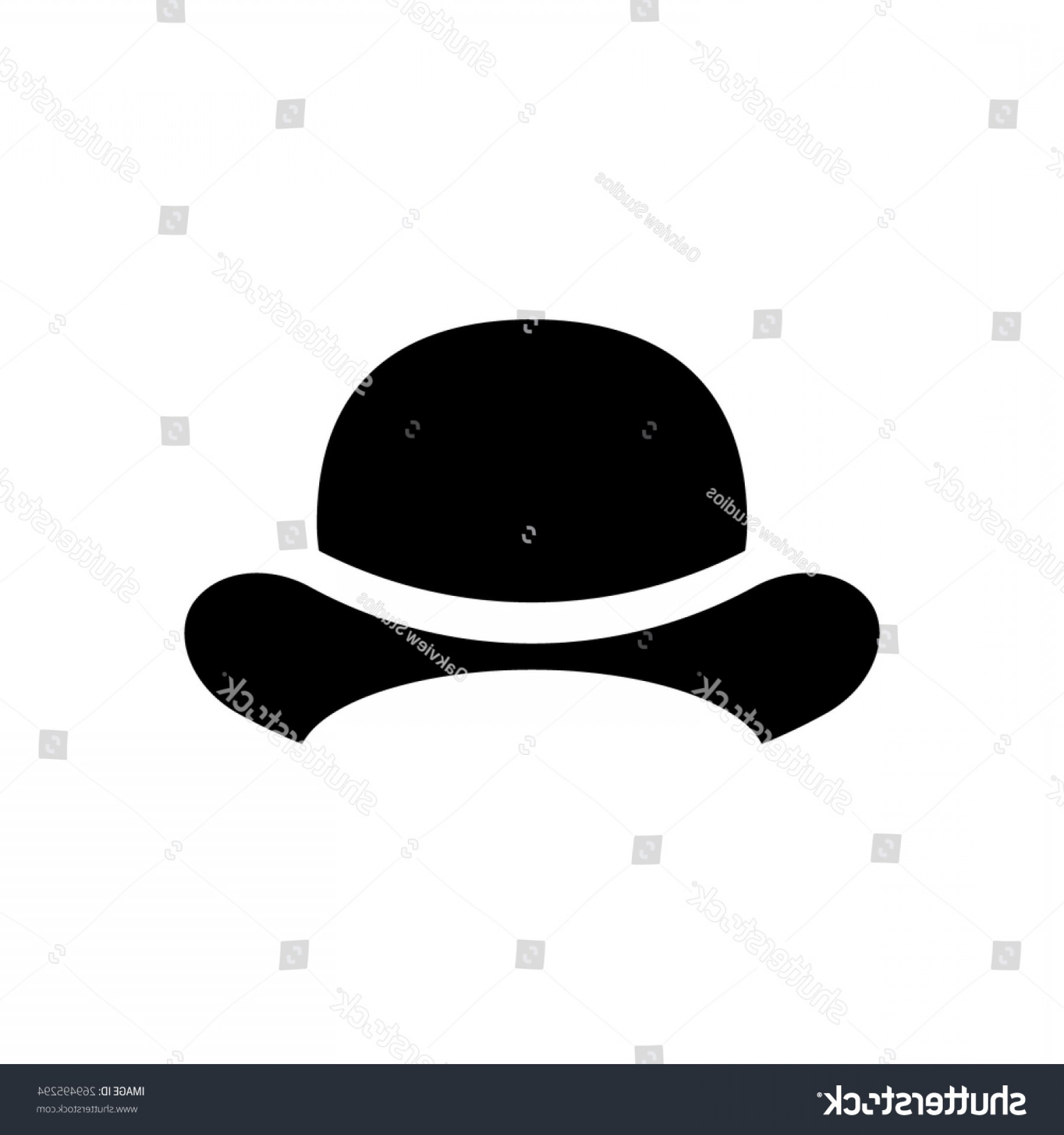 Bowler Hat Vector: Bowler Hat Icon Vector Illustration