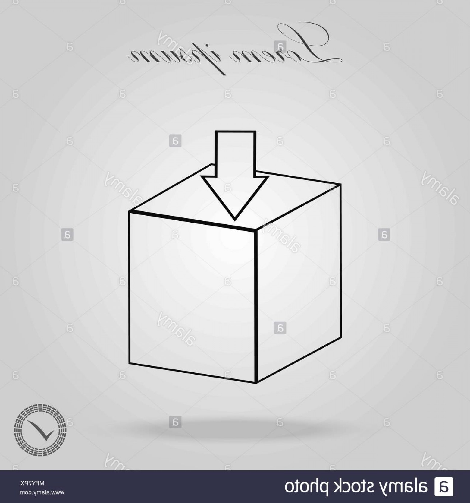 Box Outline Vector: Box Package Line Icon Outline Vector Sign Linear Pictogram Isolated On White Logo Illustration Image
