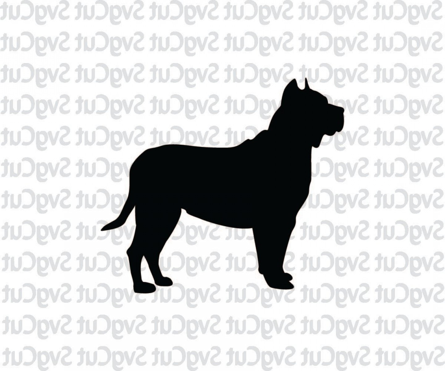 Double Boxer Dog Vector: Boxer Dog Svg Dog Cricut Dog Print