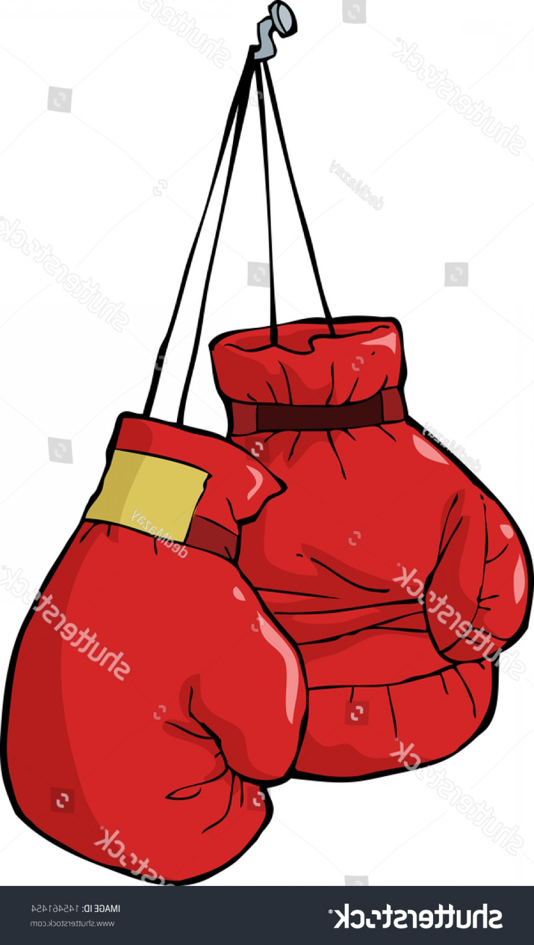 Pictures Of Boxing Gloves Vector Art: Boxing Gloves On Nail Vector Illustration
