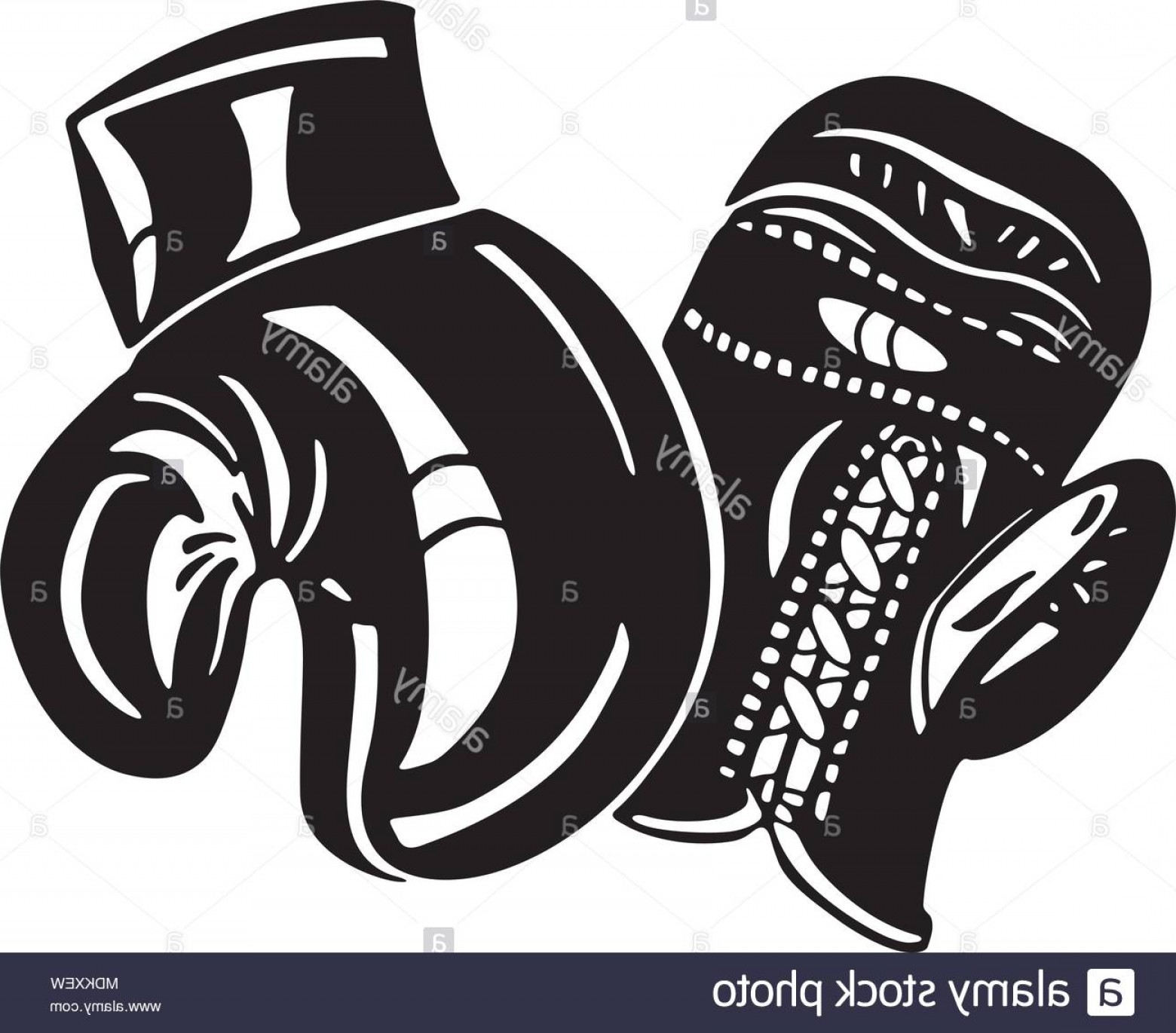 Boxing Gloves Vector Clip Art: Boxing Gloves Retro Clipart Illustration Image