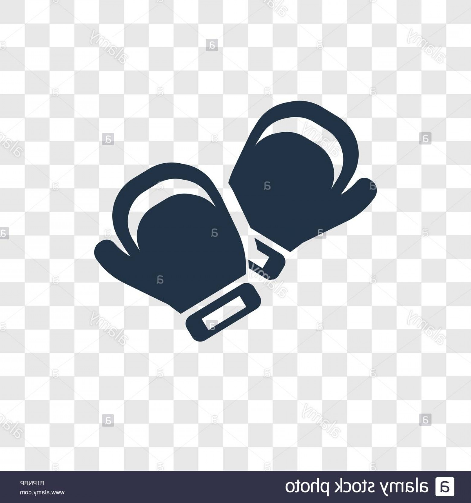 Pictures Of Boxing Gloves Vector Art: Boxing Gloves Vector Icon Isolated On Transparent Background Boxing Gloves Transparency Logo Concept Image
