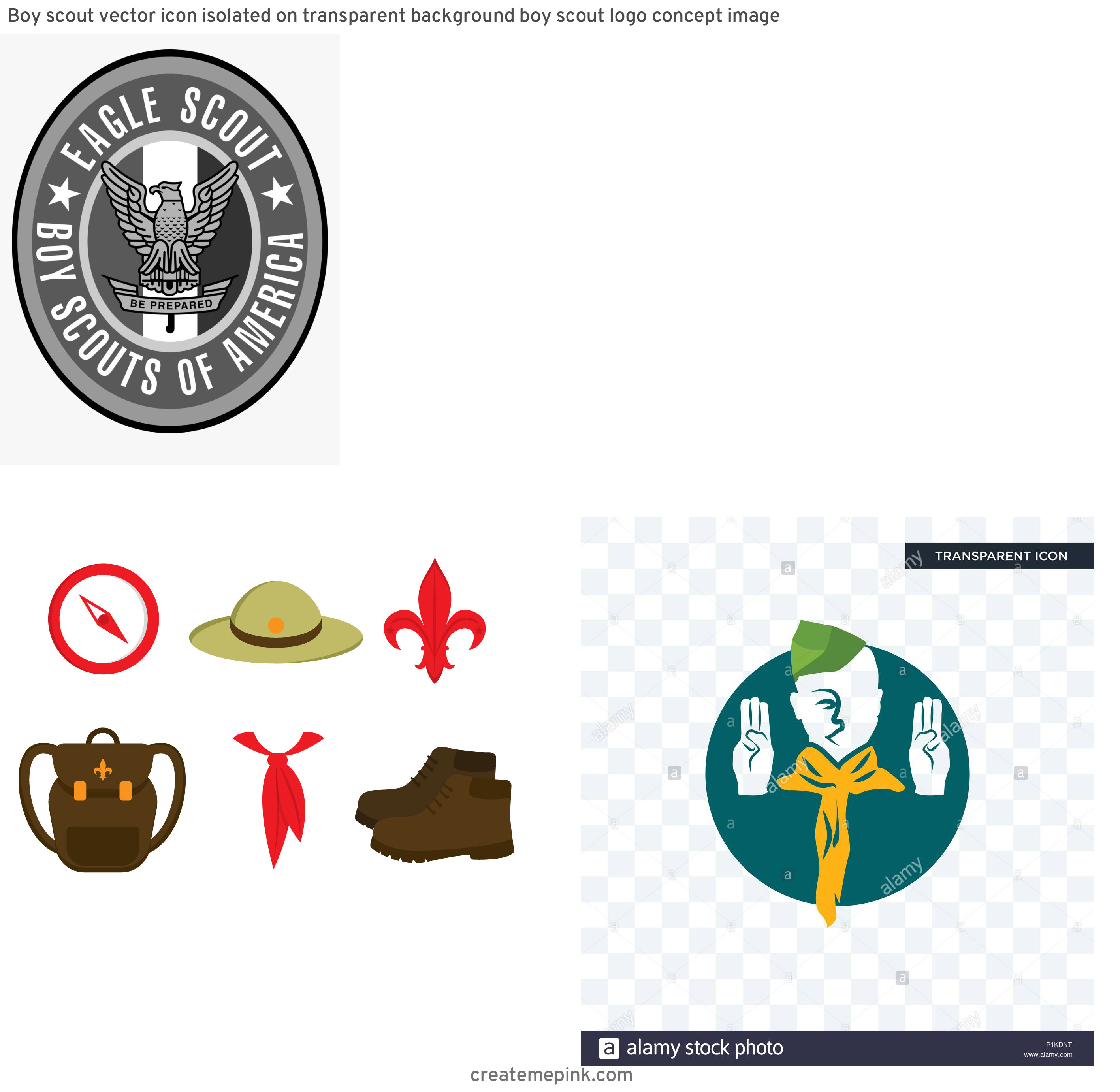 Boy Scout Logo Vector Art: Boy Scout Vector Icon Isolated On Transparent Background Boy Scout Logo Concept Image