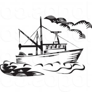 U-Haul Logo Vector Clip Art: Boat Vector Clip Art Black And White