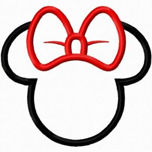 Minnie Mouse Head Vector: Bow Minnie Mouse Silhouette Svg F