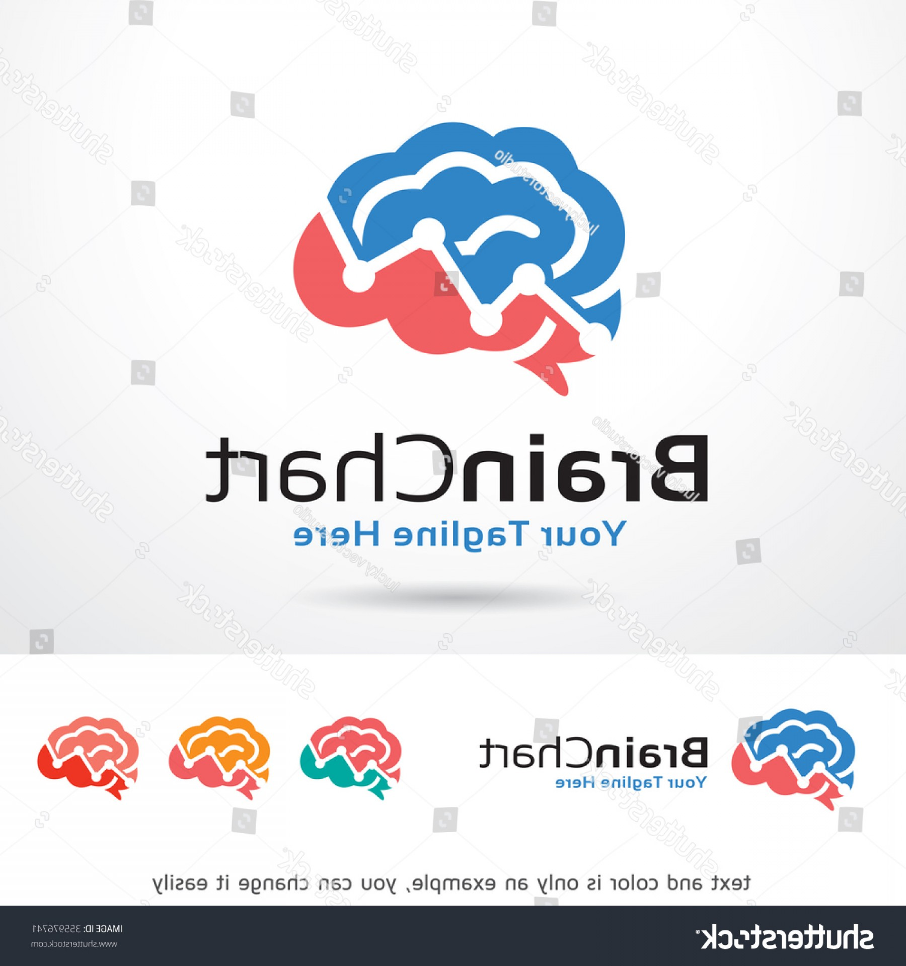 The Storm Vector Layout System: Brain Chart Logo Template Design Vector