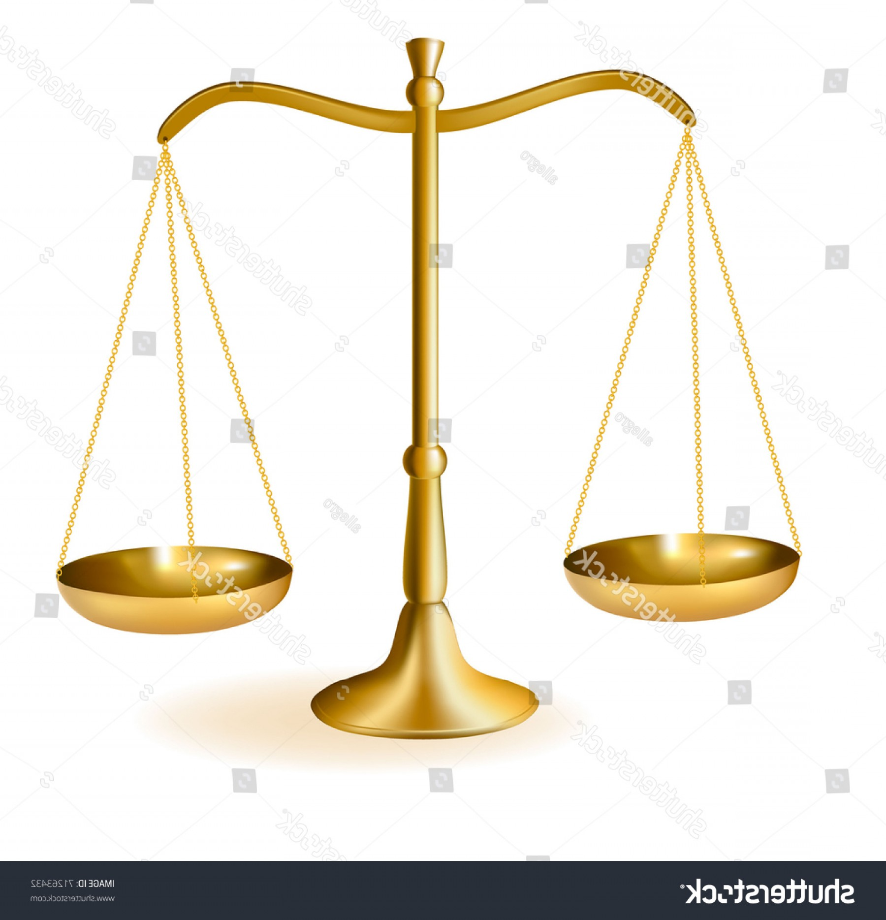 Scales Of Justice Vector: Brass Scales Justice Vector Illustration