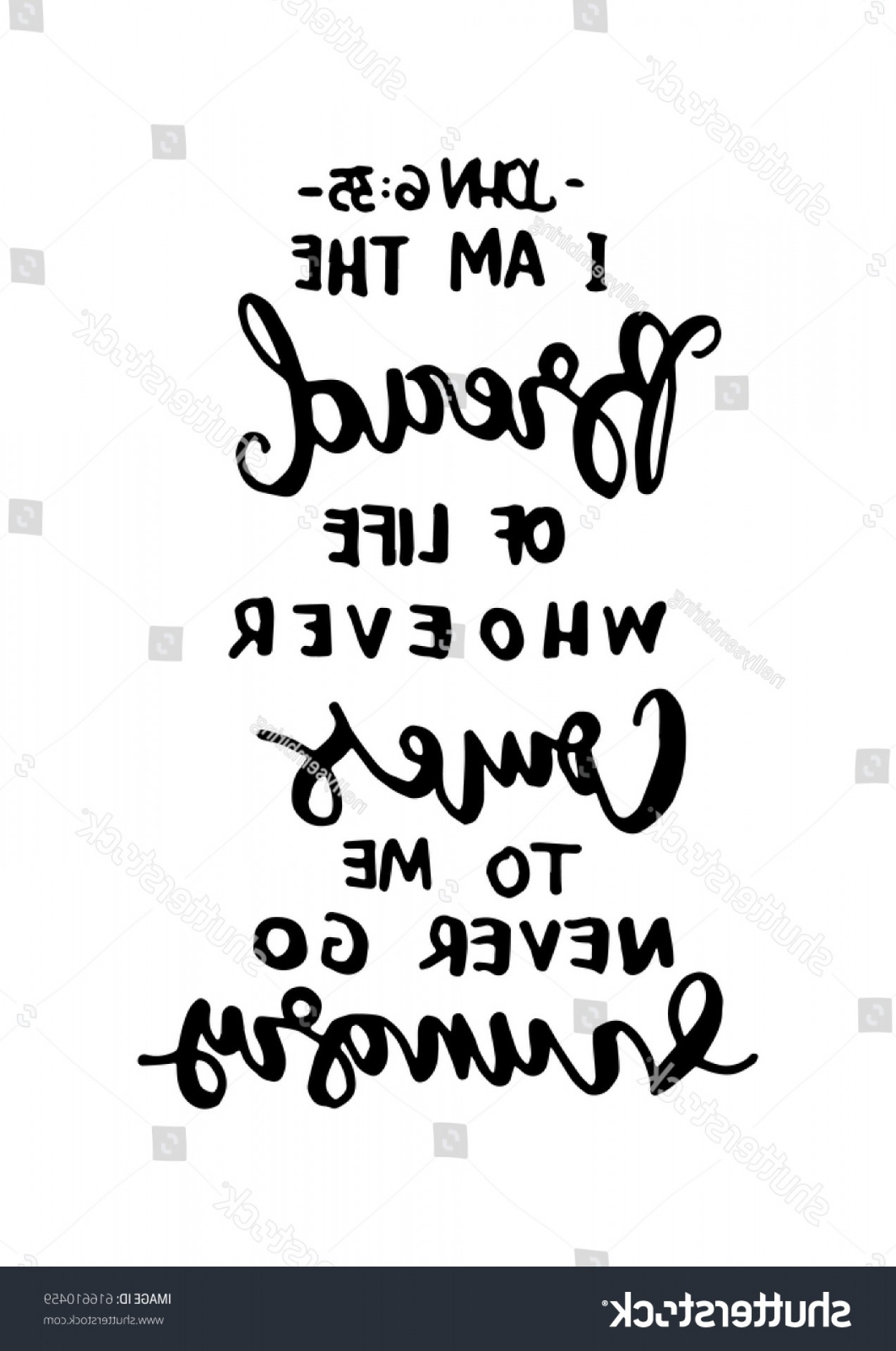 Bread Of Life Vector Art: Bread Life Bible Verse Hand Lettered
