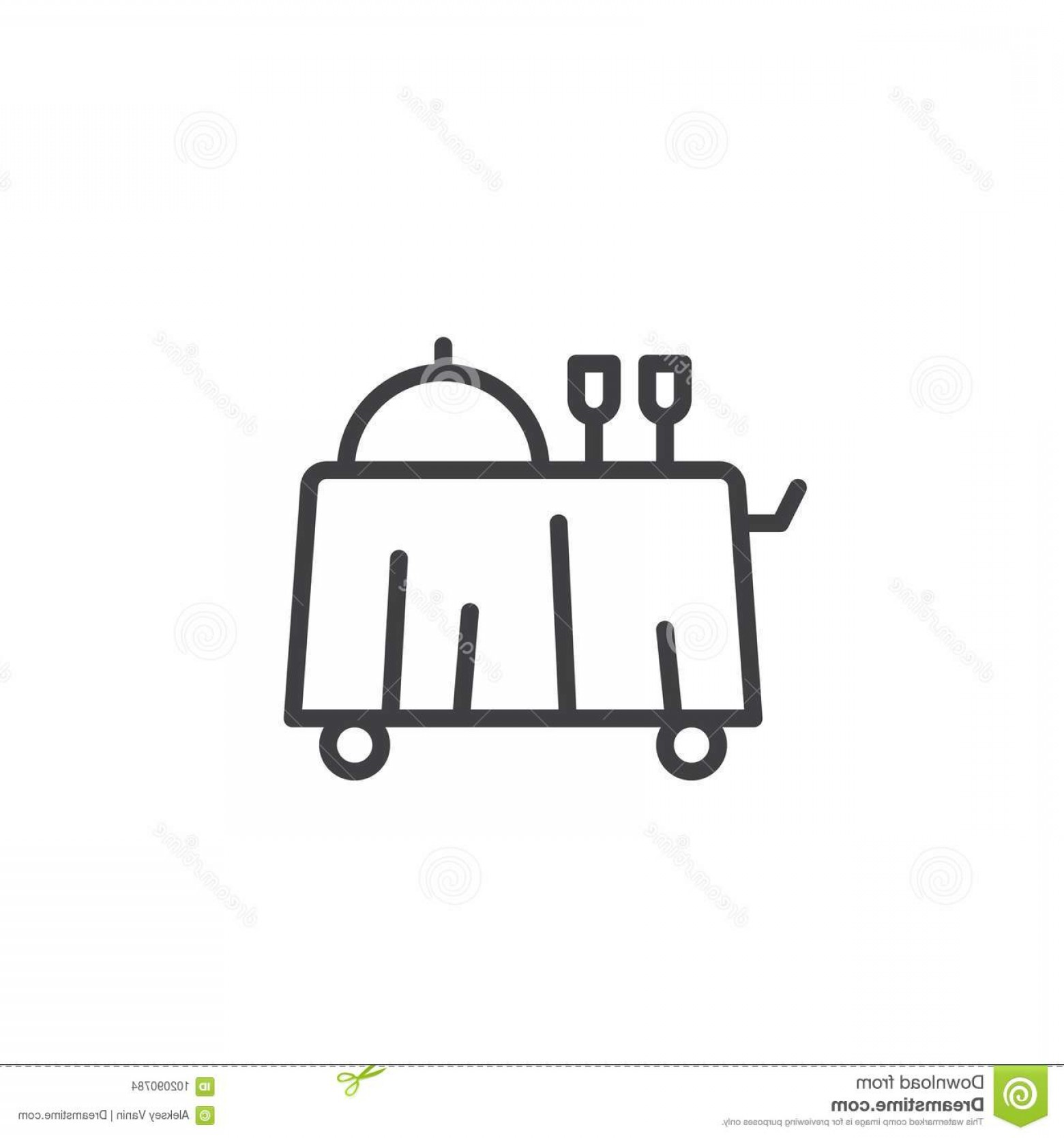 Vector Breakfast Logos: Breakfast Room Service Line Icon Breakfast Room Service Line Icon Outline Vector Sign Linear Style Pictogram Isolated White Image