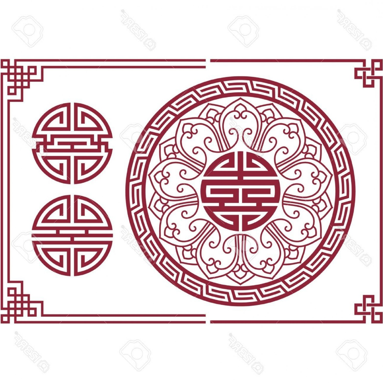 Oriental Dragon Vector: Breathtaking Vector Set Of Oriental Chinese Design Elements Royalty Free Handsome Models Oriental Dragon Tattoo Designs