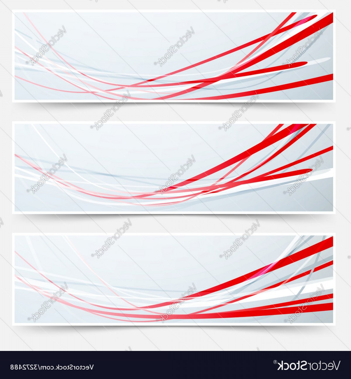 Vector Swoosh Simple Two Line: Bright Red Speed Rapid Swoosh Stream Line Header Vector