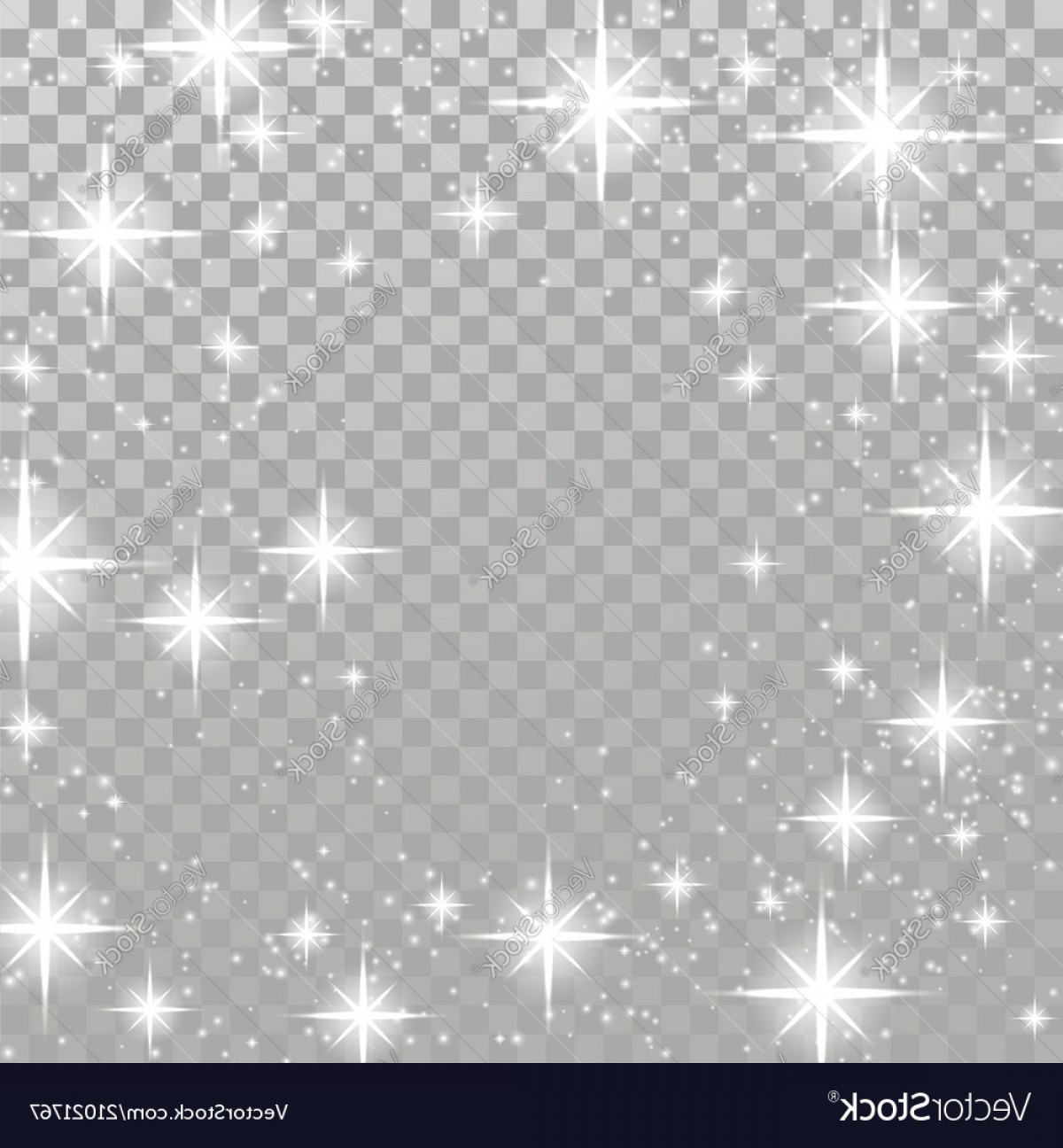 Twinkle Light Vector: Bright Star Twinkle Glow Shimmering Frame Layout Vector