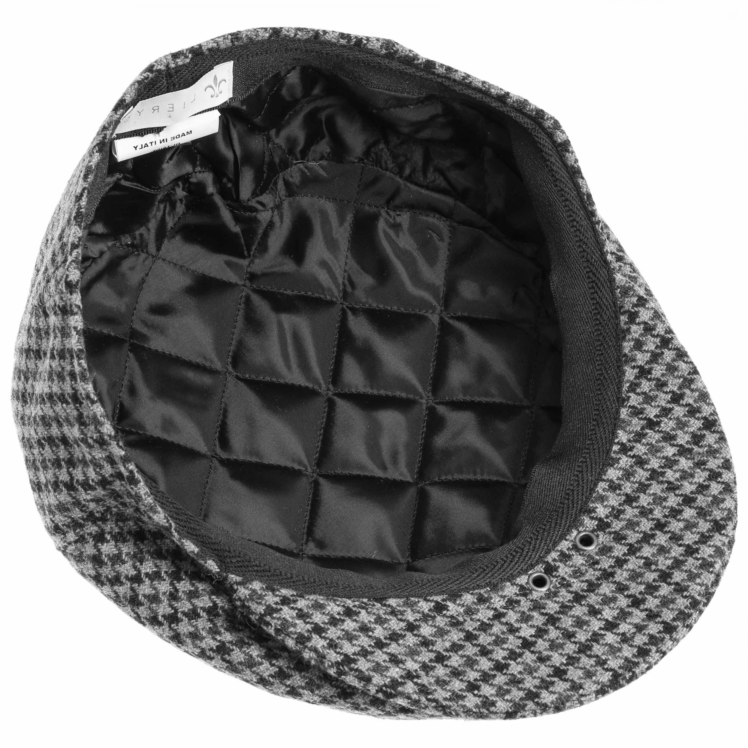 Houndstooth Hats Vector: Britain Houndstooth Flat Cap By Lierys
