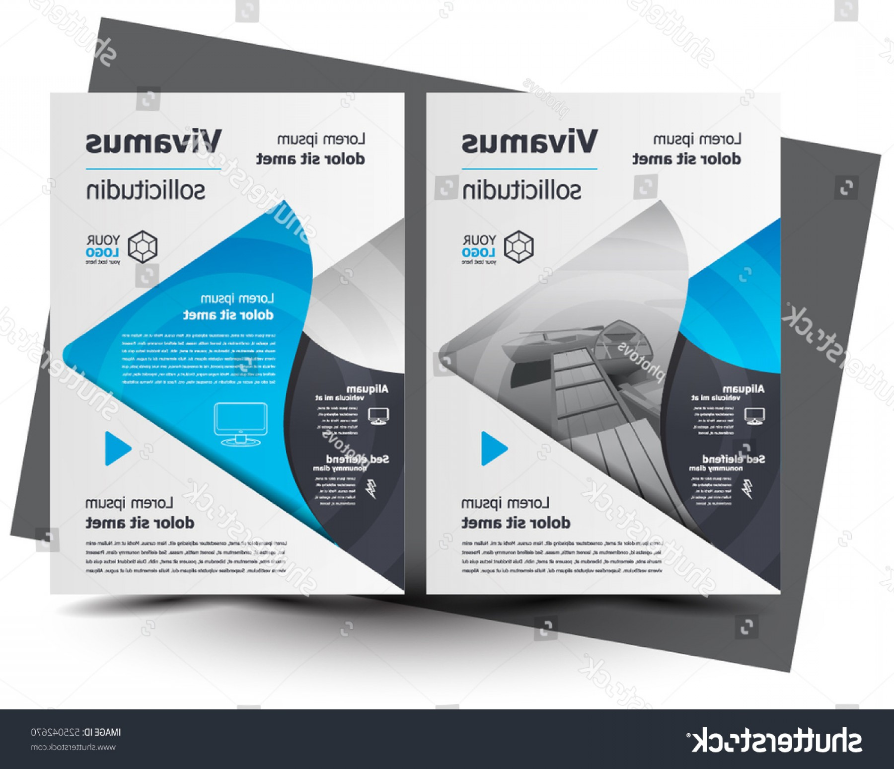 Vector Brochure Cover Designs: Brochure Cover Design Business Flyer Size