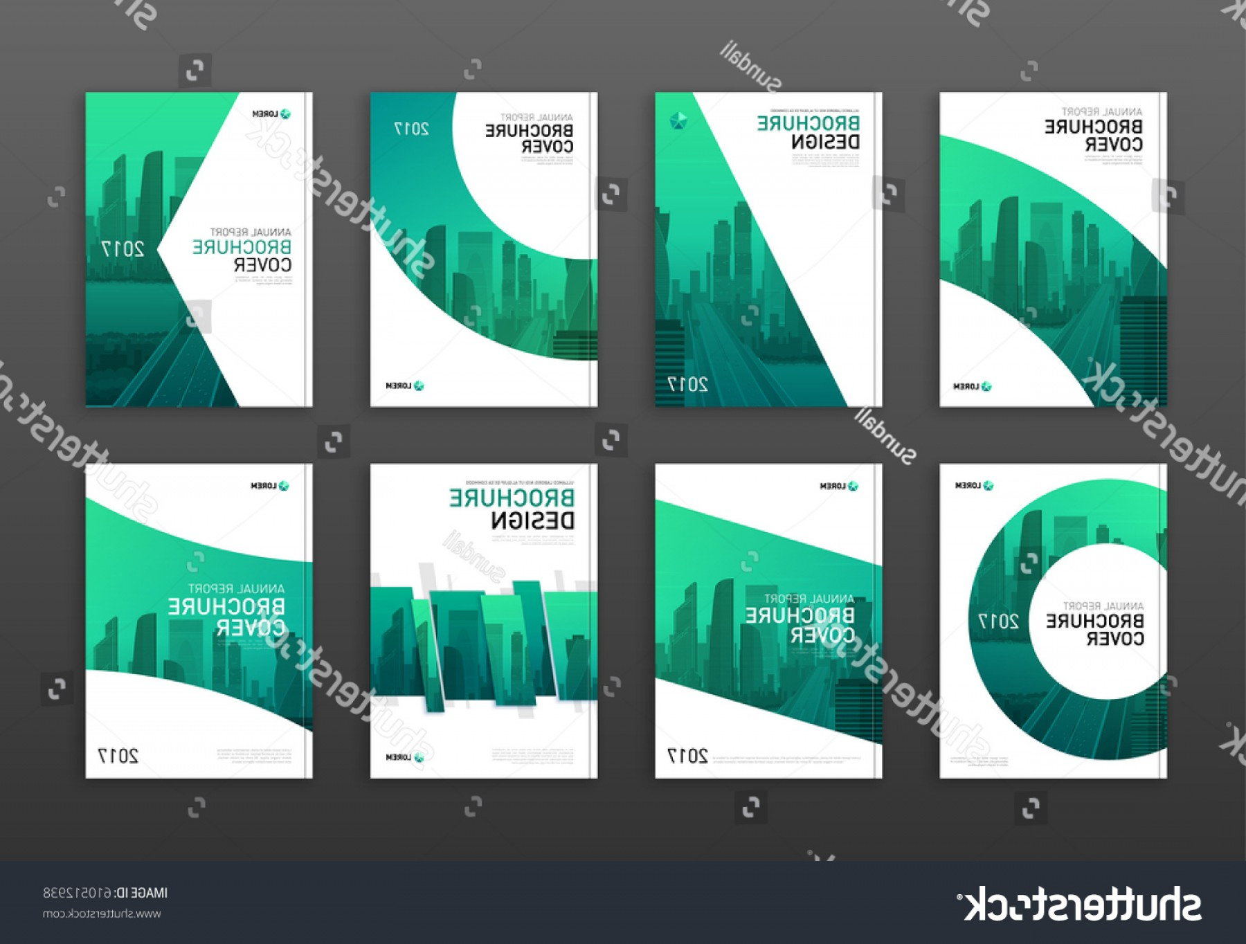 Vector Brochure Cover Designs: Brochure Cover Design Layout Set Business