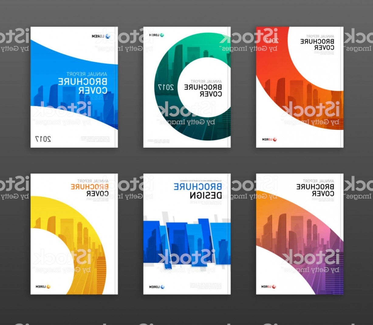 Vector Brochure Cover Designs: Brochure Cover Design Layout Set For Business Gm