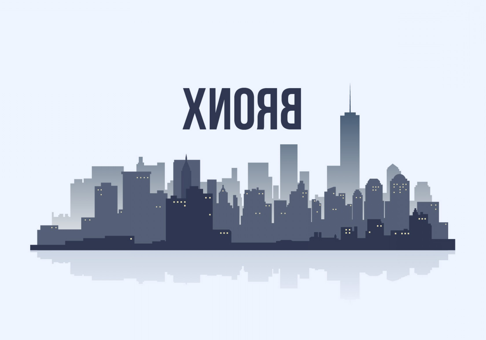 Wicked Boston Skyline Silhouette Vector: Bronx Stadt Skyline Silhouette Vektor Illustration
