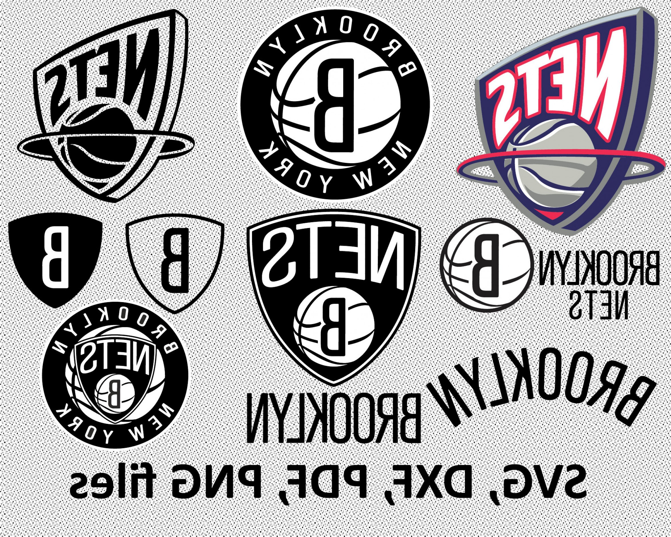 Vector NBA LogoArt: Brooklyn Nets Svg Dxf Pdf Png Clipart