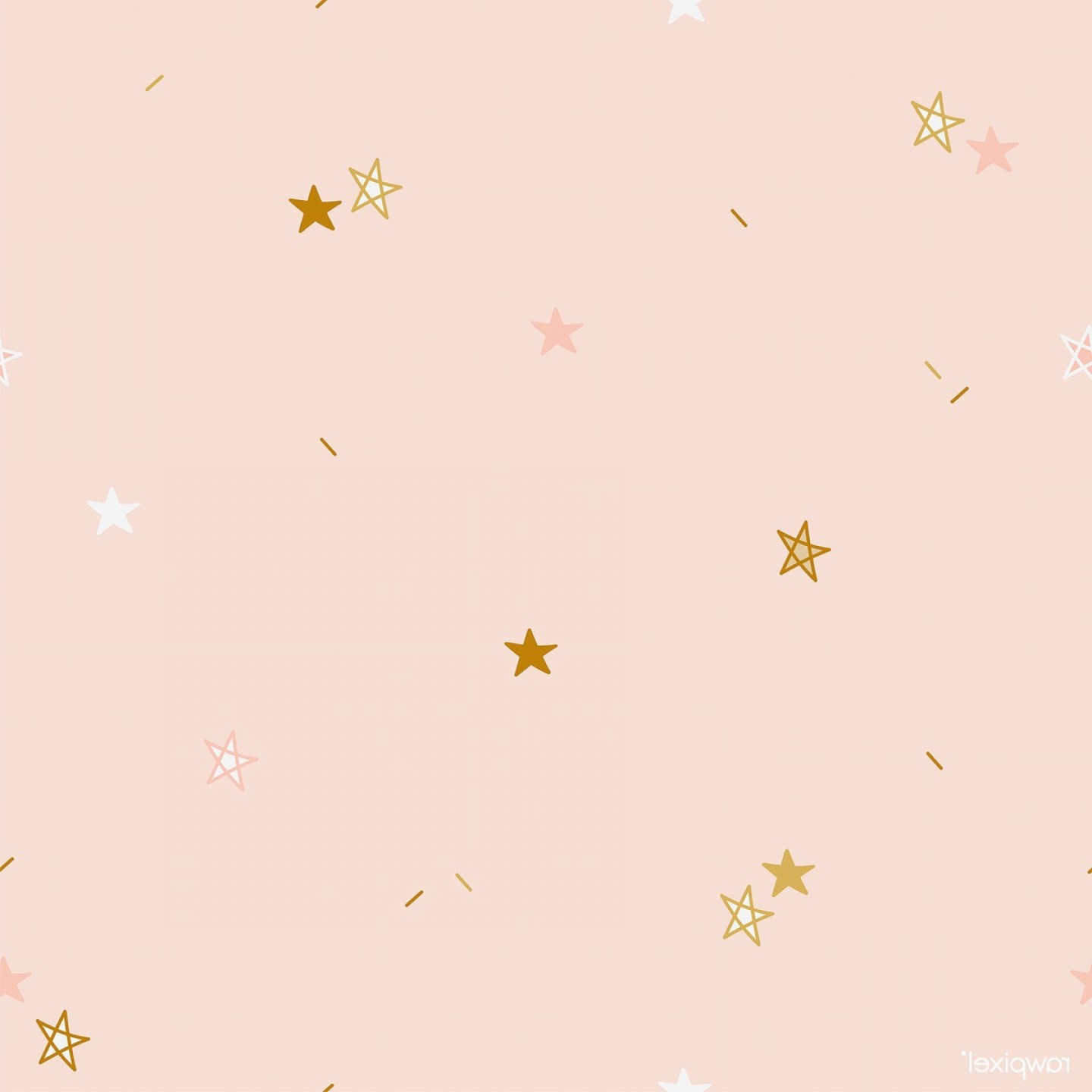 Stars Yellow Christmas Vector: Brown And Yellow Stars Pattern Background Vector