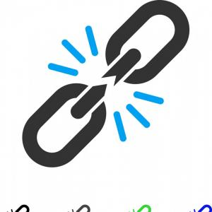 Breaking Chain Link Vector: Break Chain Link Flat Icon Vector
