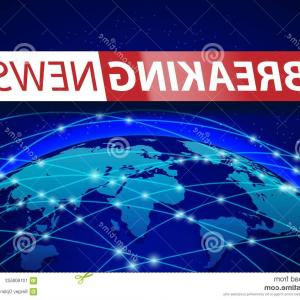 Abstract Vector Art Globe TV: Vector Illustration Anchorman Breaking News And Tv Screen Layout Pofessional Gm