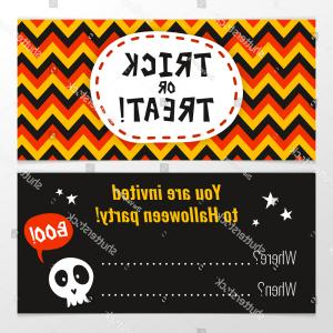 Bright Orange Halloween Party Vector: Bright Halloween Party Invitation Design Template