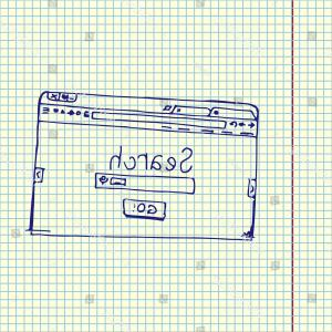 Vector Chrome Browser: Browser Window Search Bar Hand Drawn