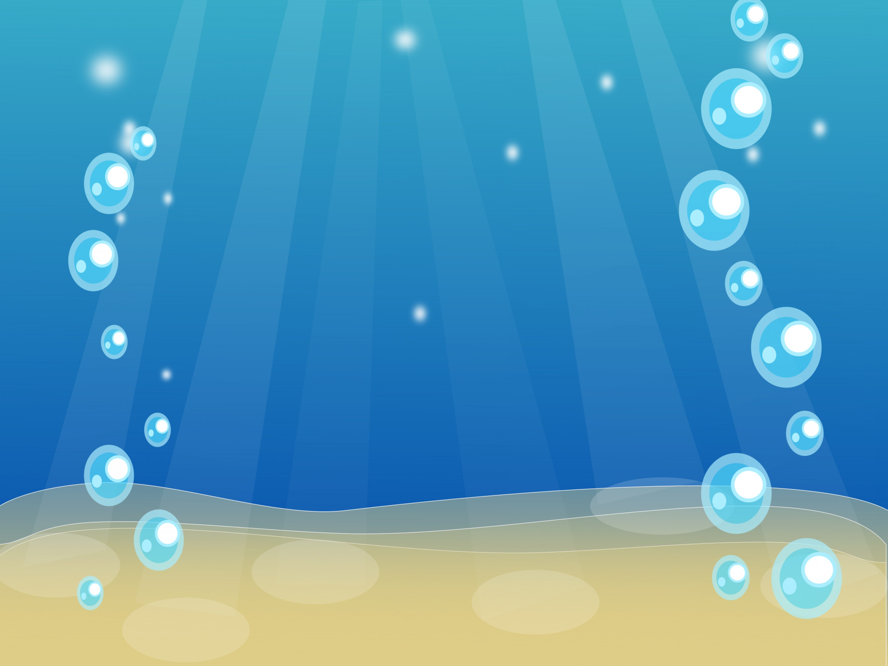 Vector Clip Art Of Water: Bubbles In The Water Vector Clipart