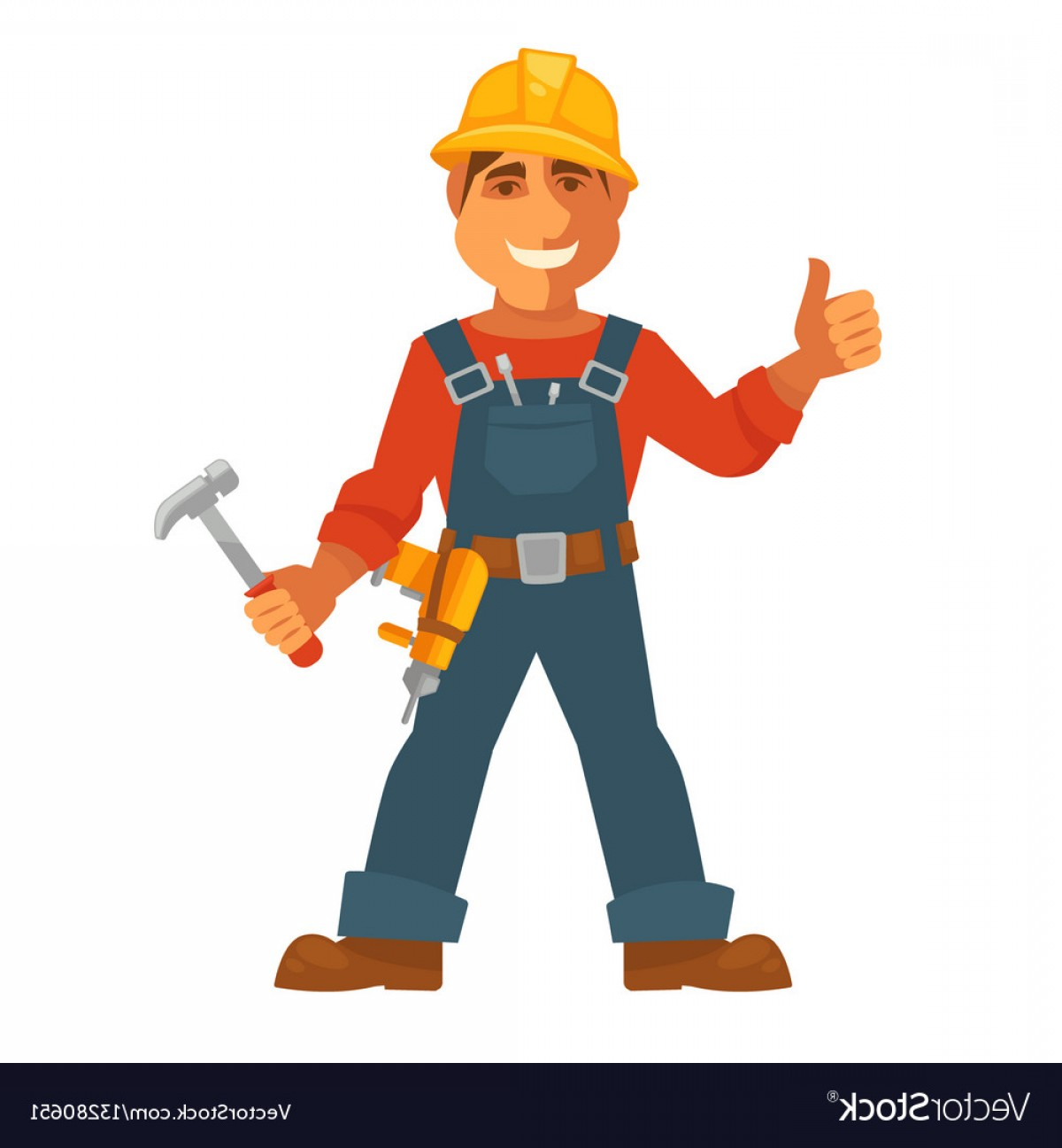 Vector Constructor: Builder Or House Constructor Man Profession Vector