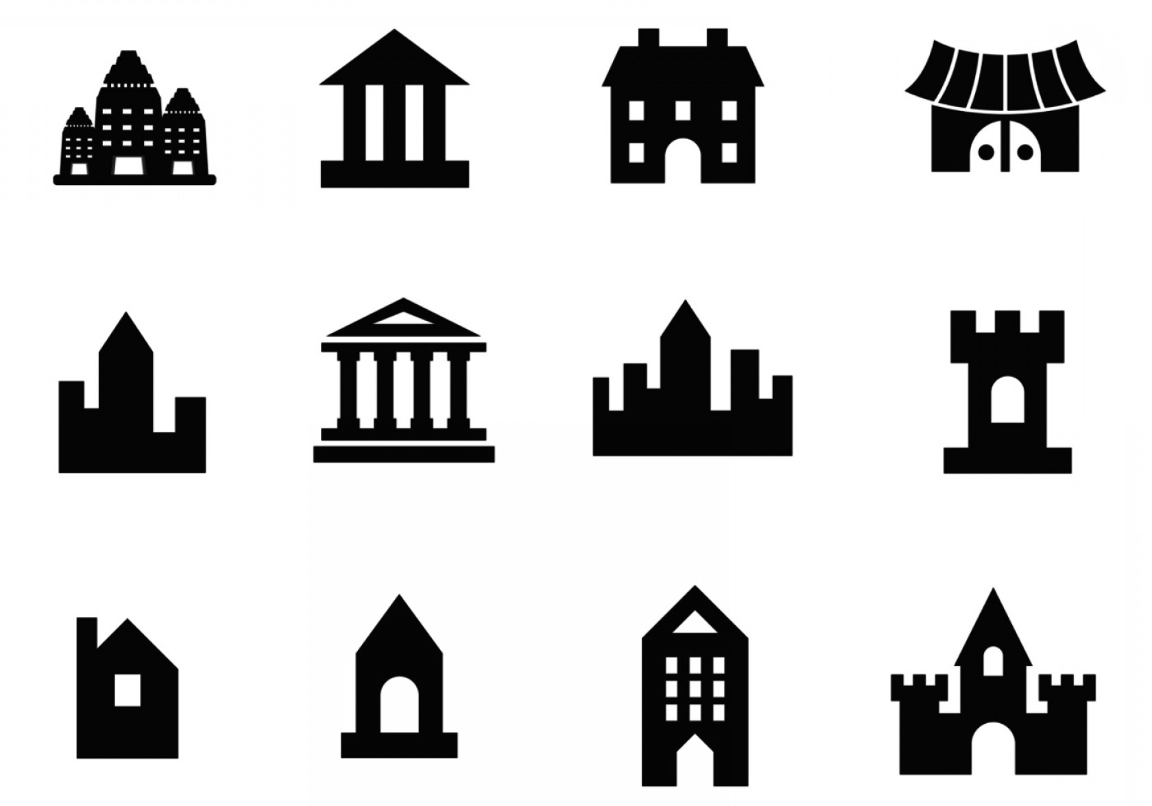 Architecture Vector: Building Vector And Architecture Vector Pack