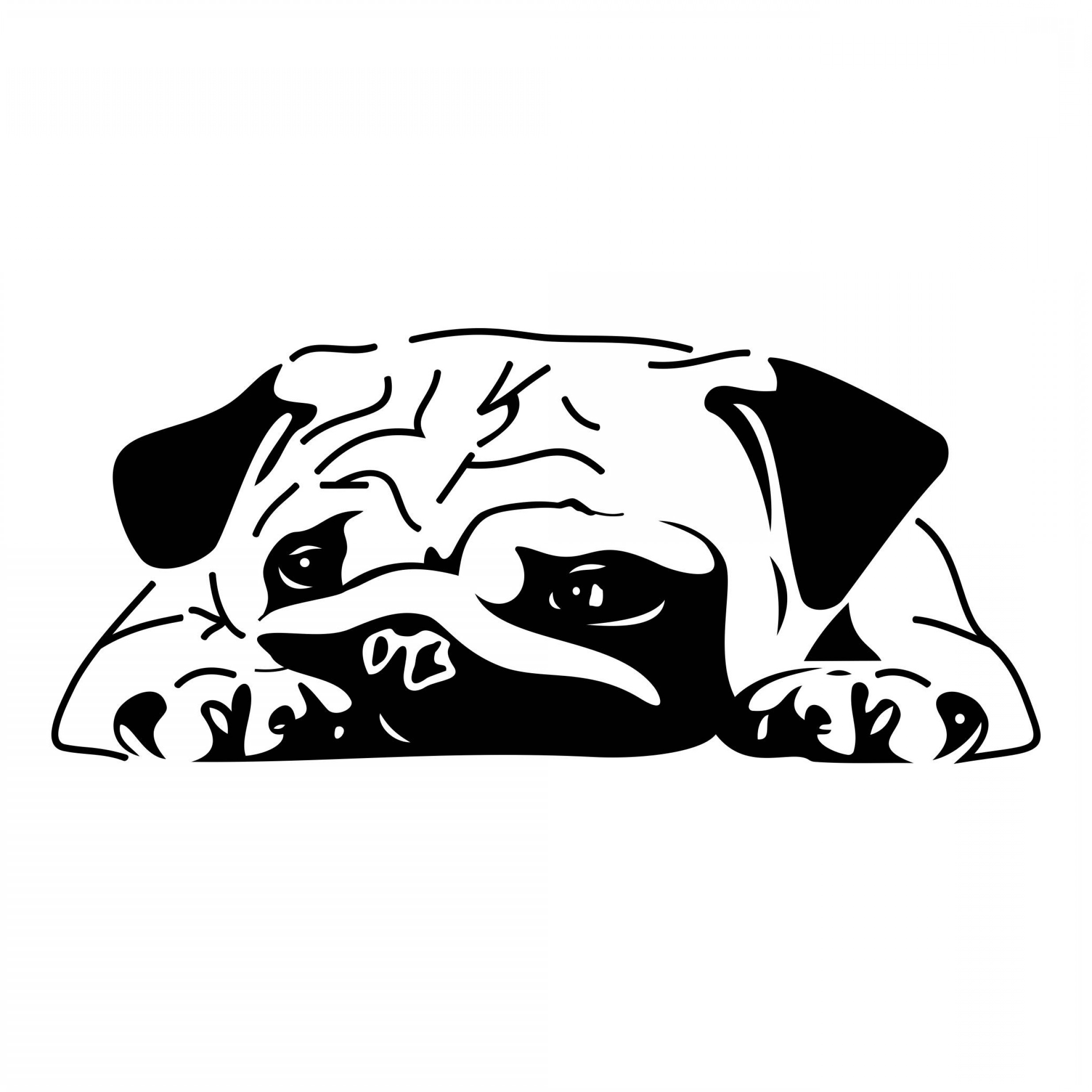 Bulldog Vector Art: Bulldog Graphics Svg Dxf Eps Png Cdr Ai