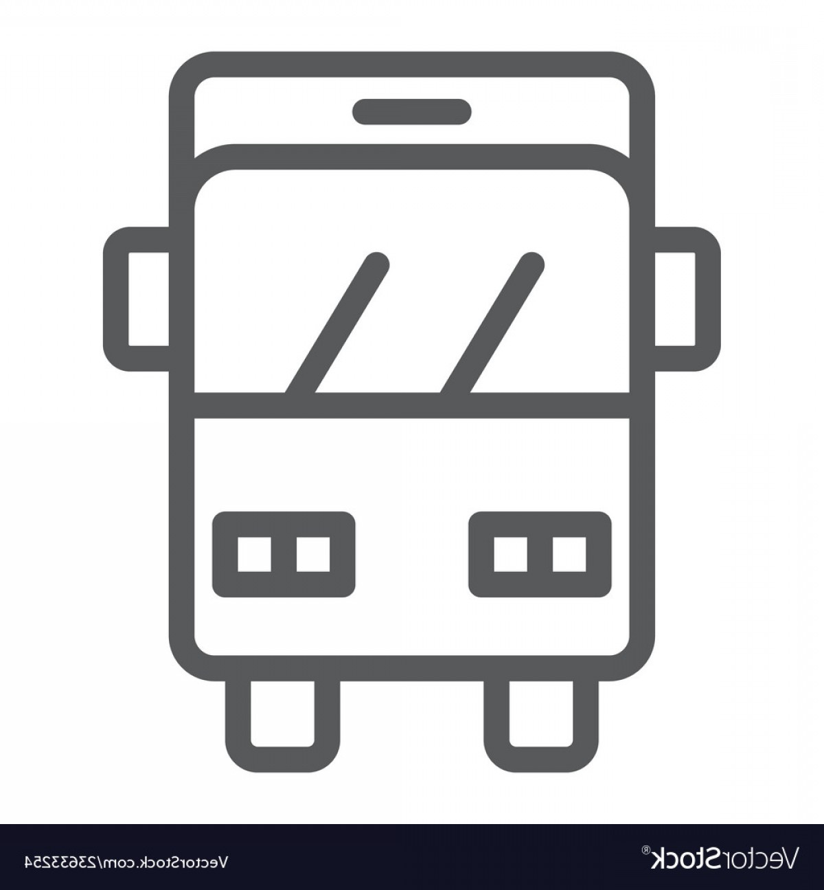 IPhone Emoji Vectors Van: Bus Trip Line Icon Transport And Vehicle Auto Vector