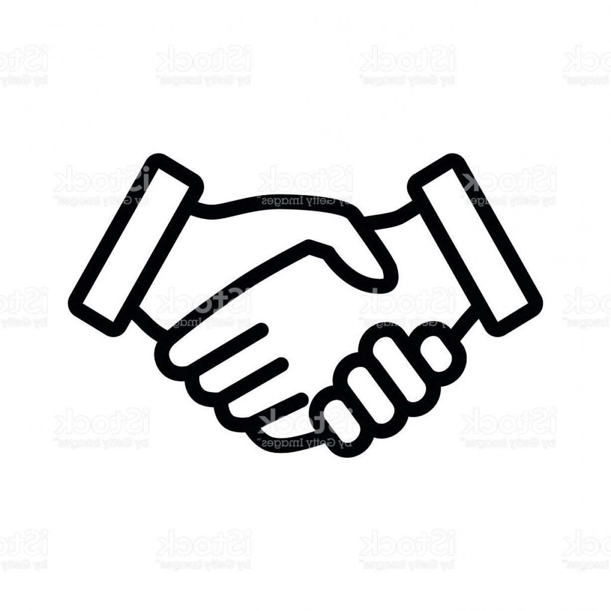 Handshake Vector Art: Business Agreement Handshake Line Art Icon For Apps And Websites Gm