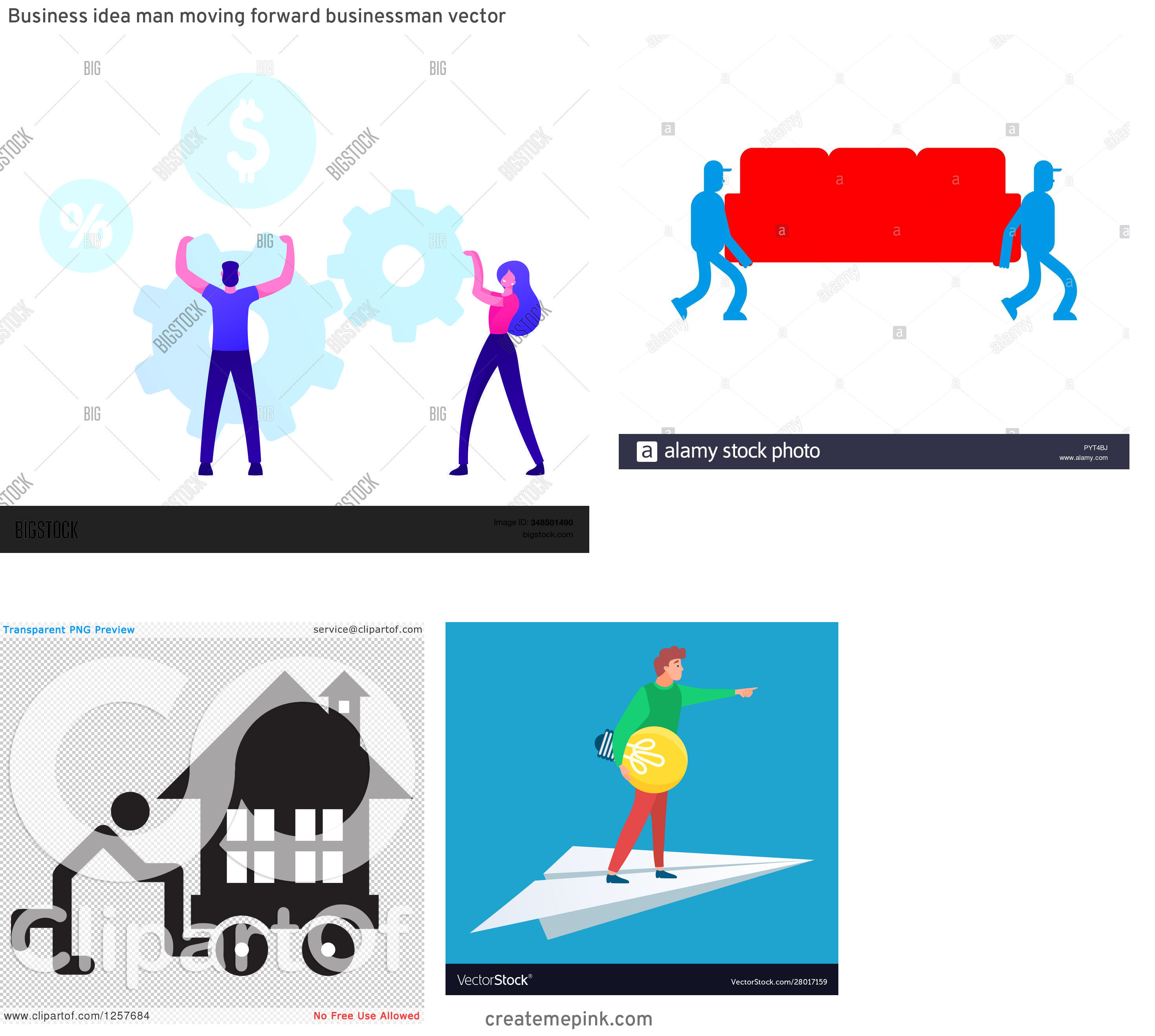 Vector Person Moving: Business Idea Man Moving Forward Businessman Vector