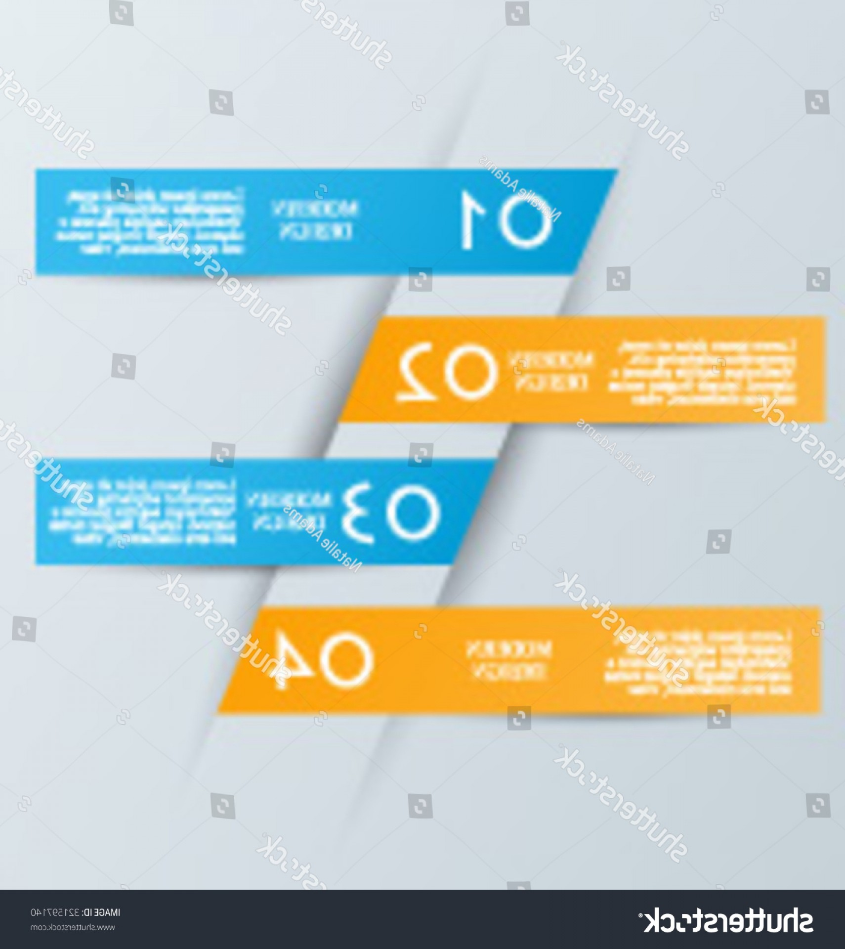 Numbered Tab Vectors In Blue: Business Infographics Template Presentation Education Web