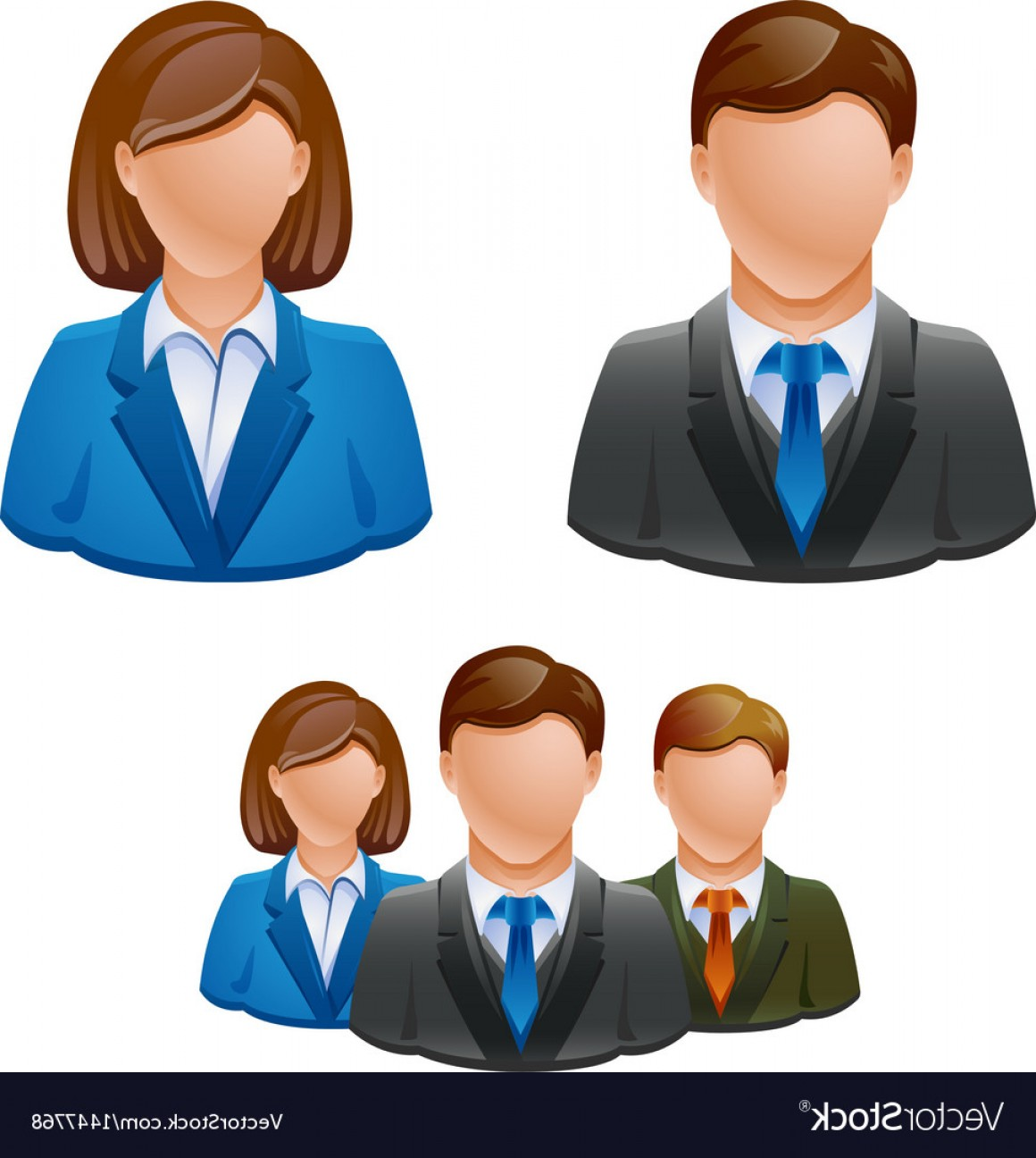 Free Vector Business People Icon: Business People Avatar People Icon Vector