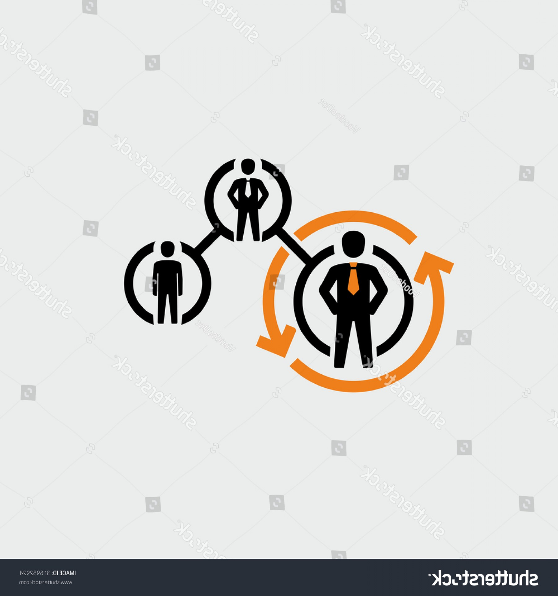 Growth Vector People: Business People Career Path Growth Vector