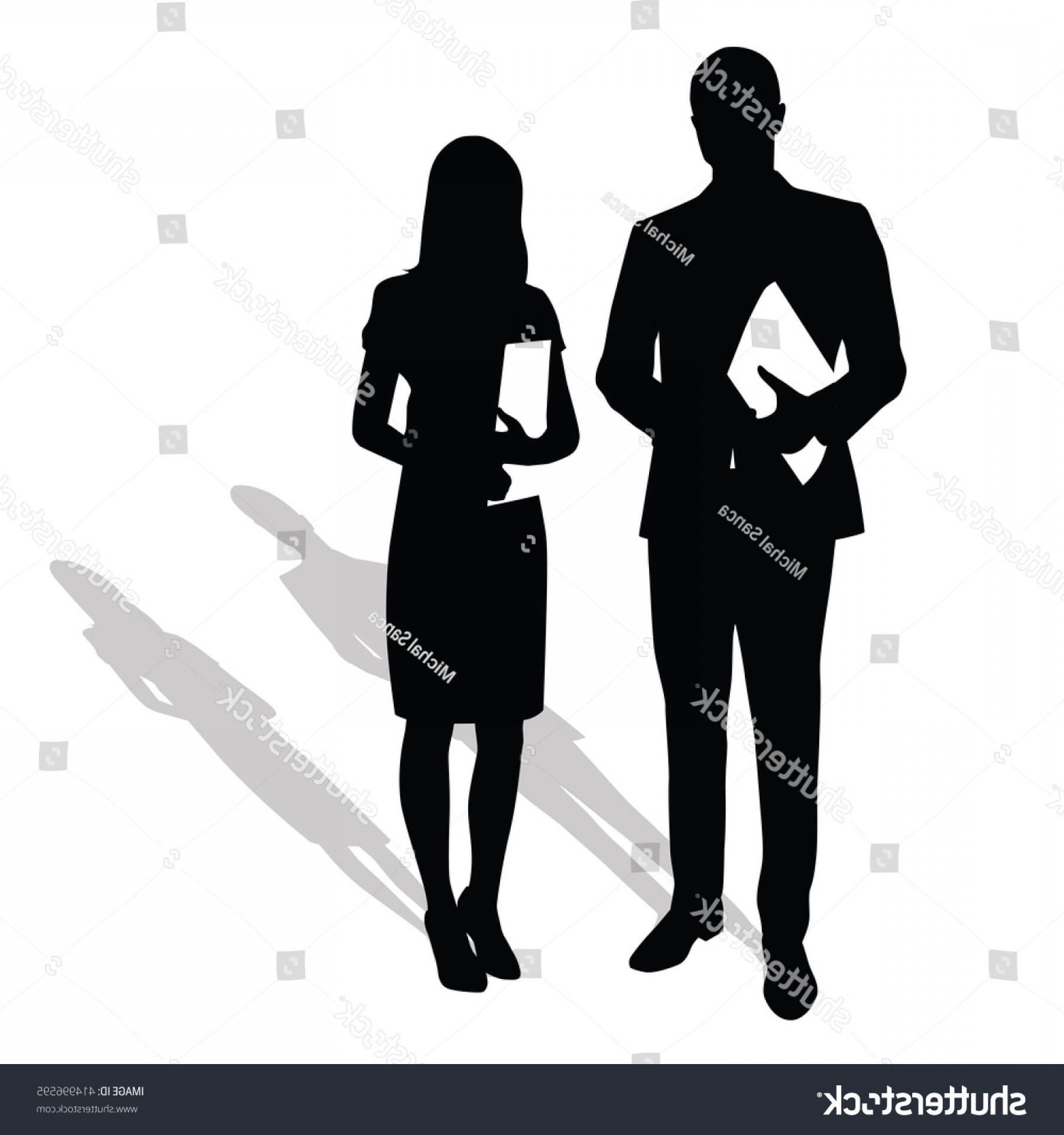 Silhouette Hee High Vector Lsitleetios: Business People Holding Papers Documents Man