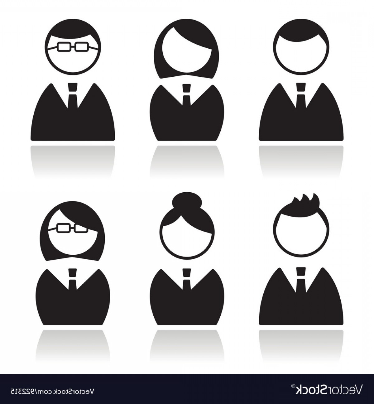 Free Vector Business People Icon: Business People Icons Set Avatars Vector