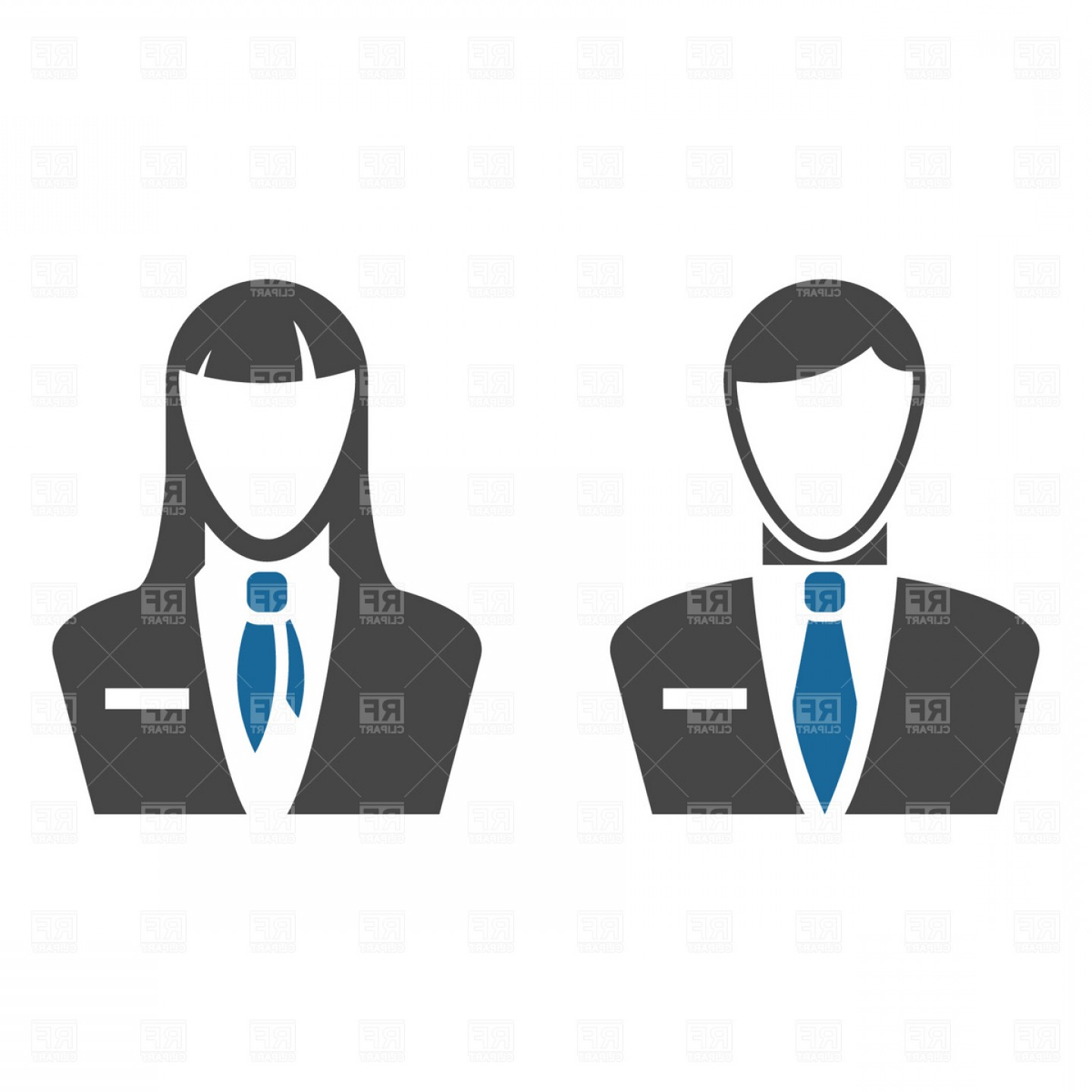 Free Vector Business People Icon: Business People Icons Vector Clipart