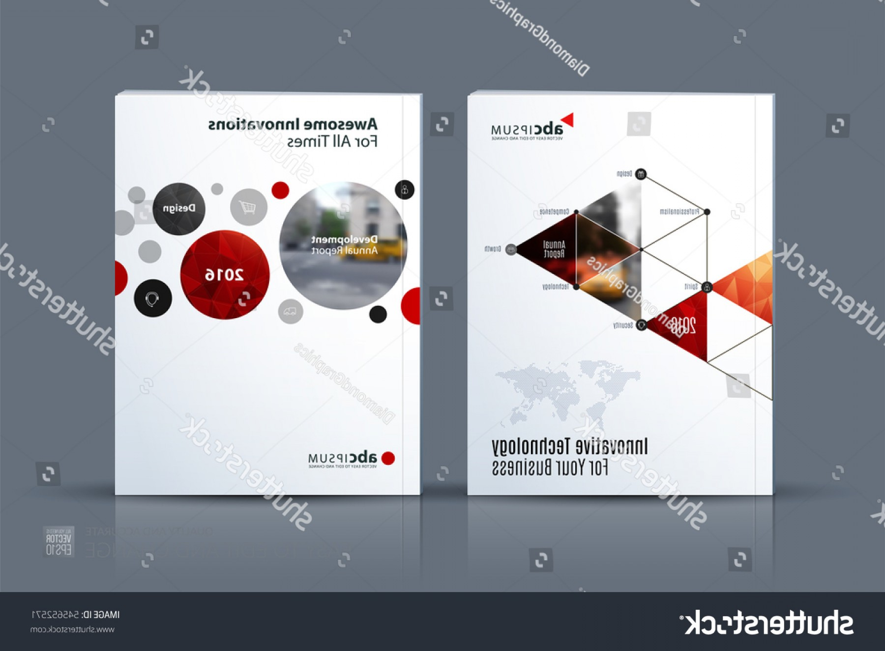 The Storm Vector Layout System: Business Vector Brochure Template Layout Cover