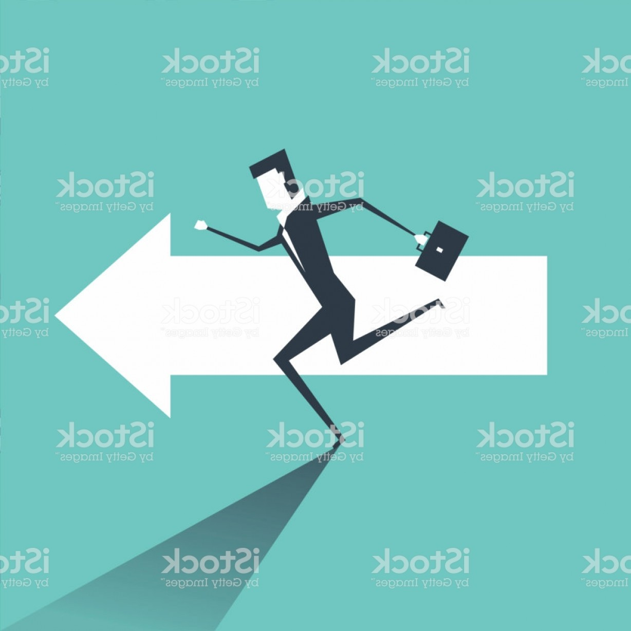 Vector Professional Goal: Businessman Running On The Arrows Towards The Goal Of Professional Success Gm