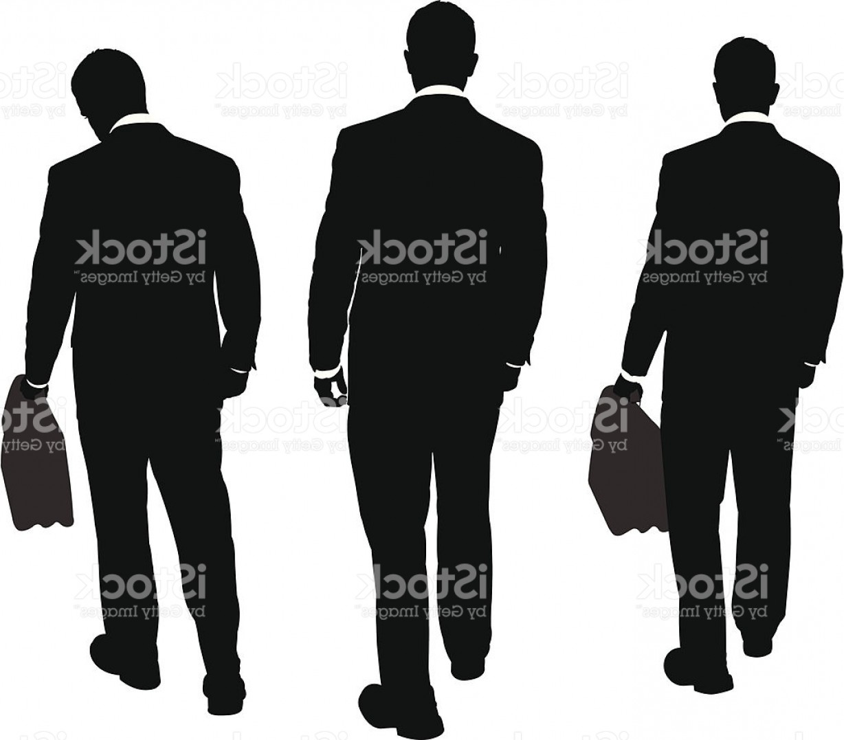 Walking Away Vector: Businessmen Walking Away Series Gm