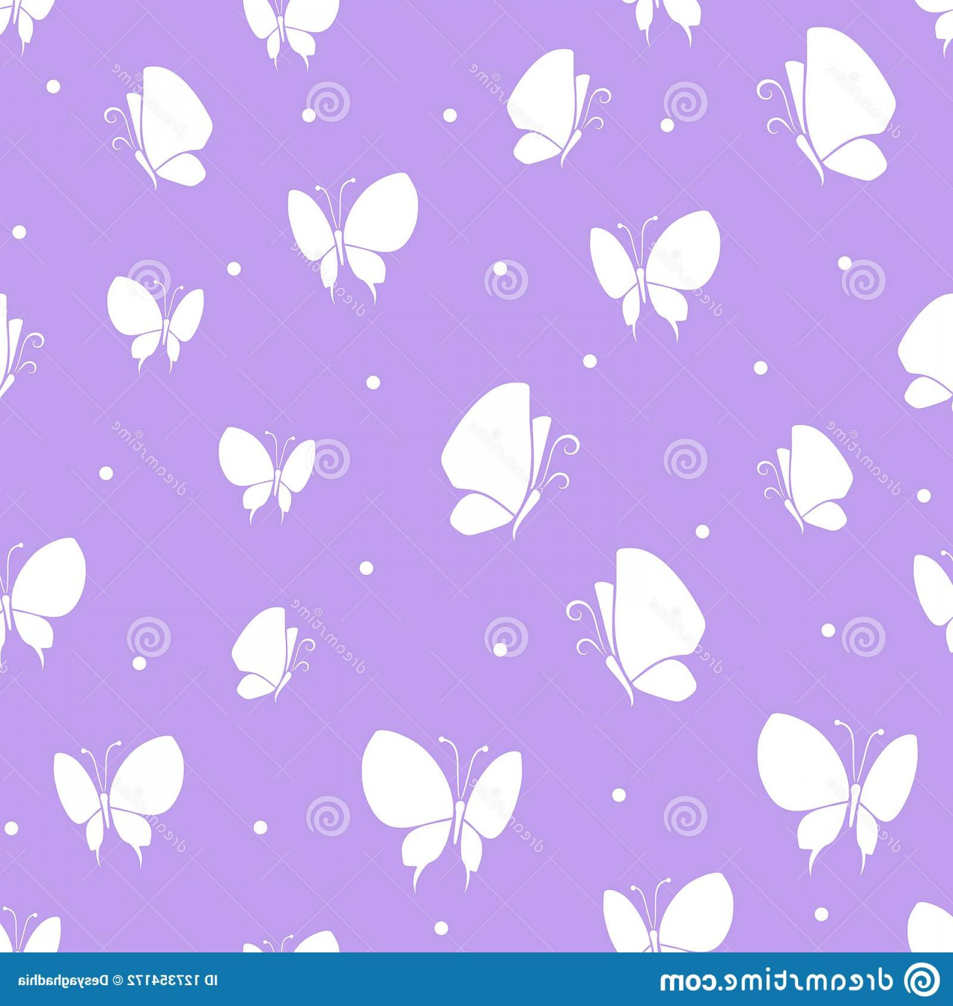 Purple Butterfly Wallpaper Vector: Butterflies Icon Set Isolated Vector Illustration Seamless Pattern Purple Background Wallpaper Fabric Wrapping Paper Image